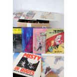"""Vinyl - Rock, Pop & Indie collection of over 40 LP's with a few 12"""" singles featuring Love, Howlin"""