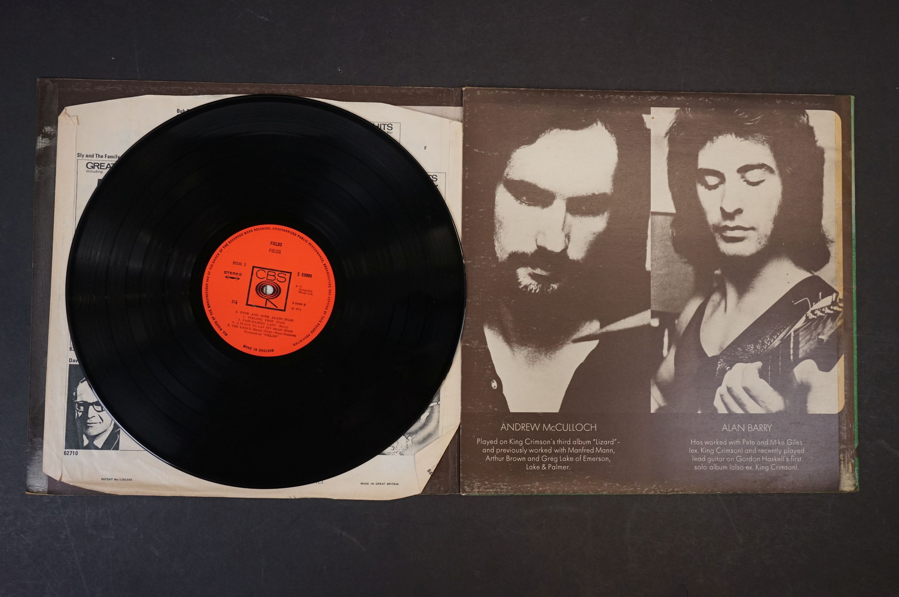 Vinyl - Prog Rock - Fields - Fields. UK 1st 1971 pressing with scarce poster, gatefold sleeve is - Image 3 of 6