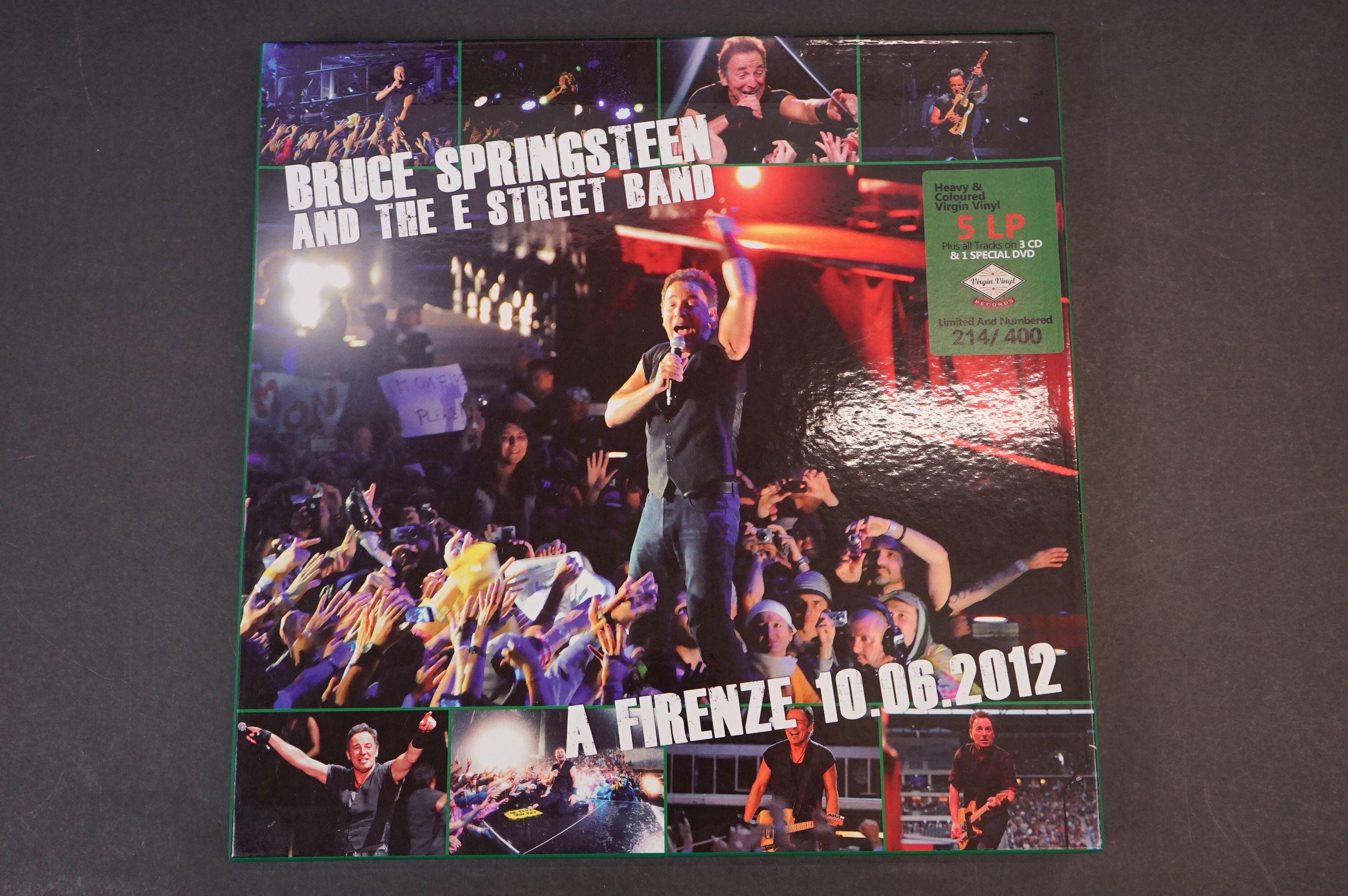 Vinyl - ltd edn Bruce Springsteen and The E Street Band A Firenze 10.06.2012 5 LP 3 CD 1 DVD heavy