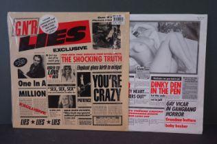Vinyl - Guns n Roses Lies LP on Geffen UK WX218 sleeve with shrink wrap, vinyl vg++