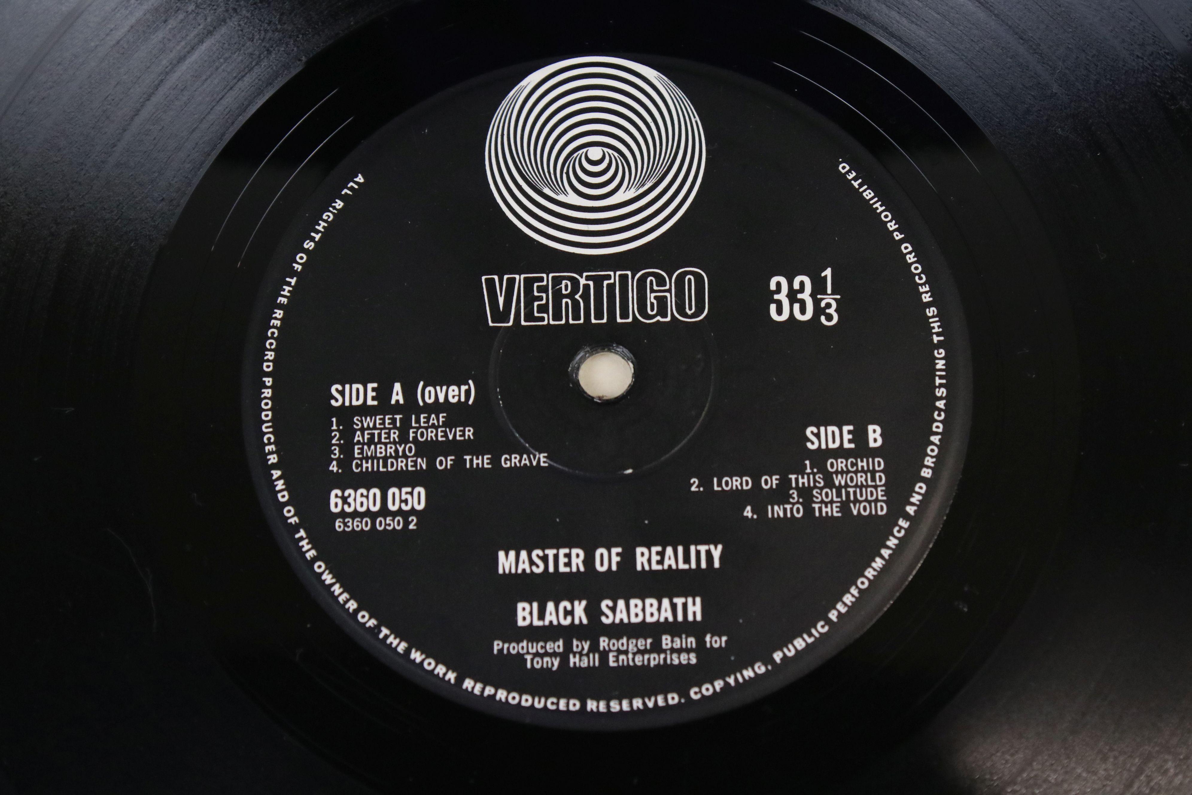 Vinyl - Black Sabbath Masters of Reality LP on Vertigo 6360050, box cover, no poster, Vertigo - Image 3 of 6