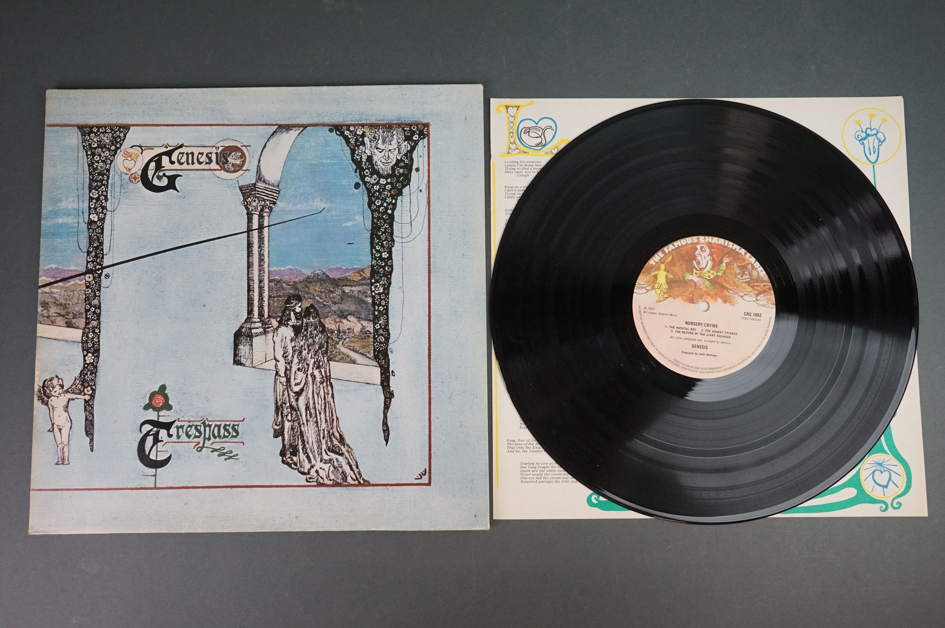 Vinyl - Five Genesis LPs to include Trespass (CAS1020), Nursery Cryme (CAS1052), Foxtrot ( - Image 2 of 9