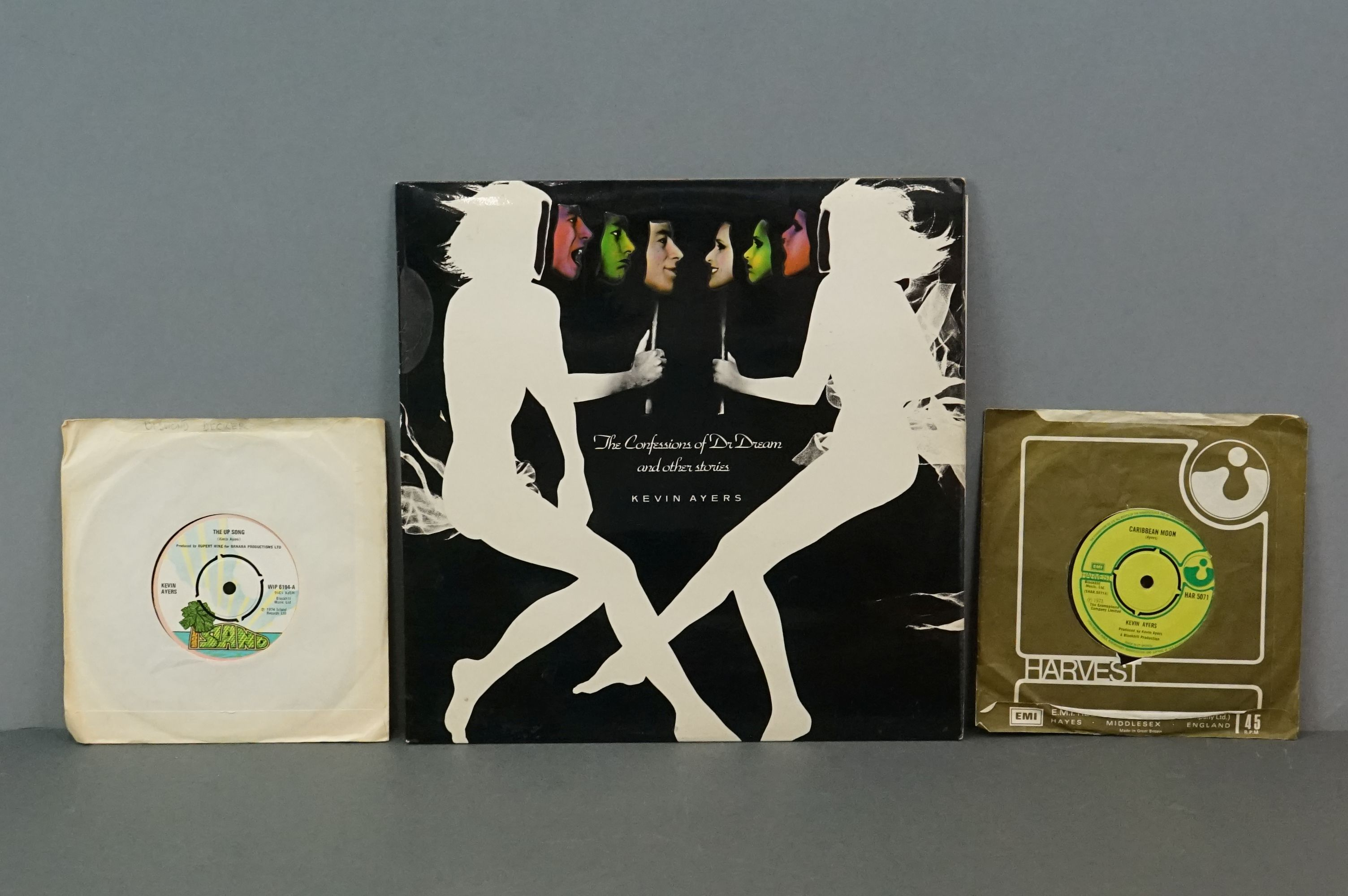 Vinyl - Kevin Ayers 1 LP The Confessions Of Dr Dream (ILPS 9263) lyric inner plus 7 inch singles