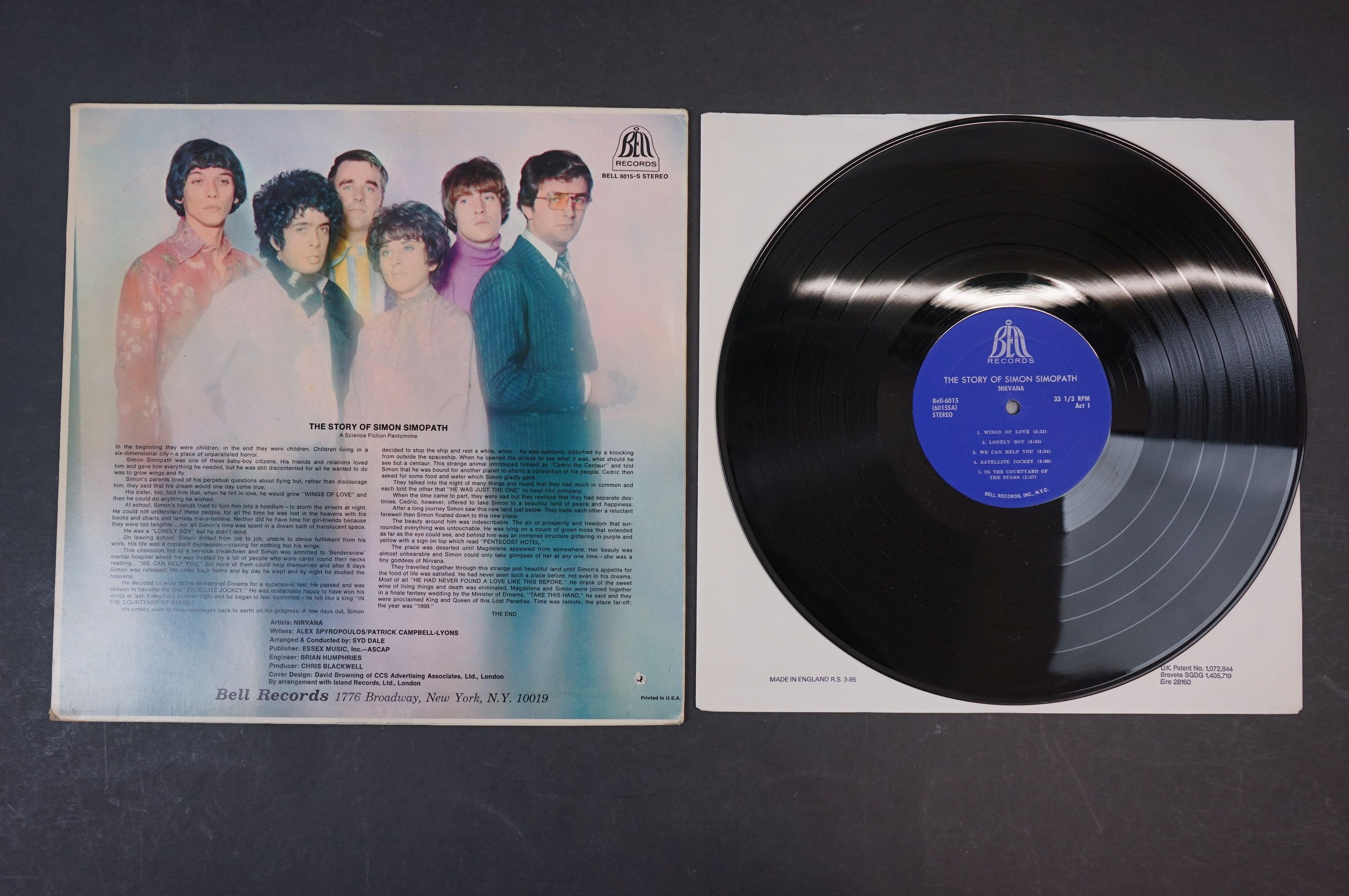 Vinyl - Two Nirvana LPs to include The Story of Simon Simopath LP on Bell Records 6015-S Stereo, - Image 5 of 13