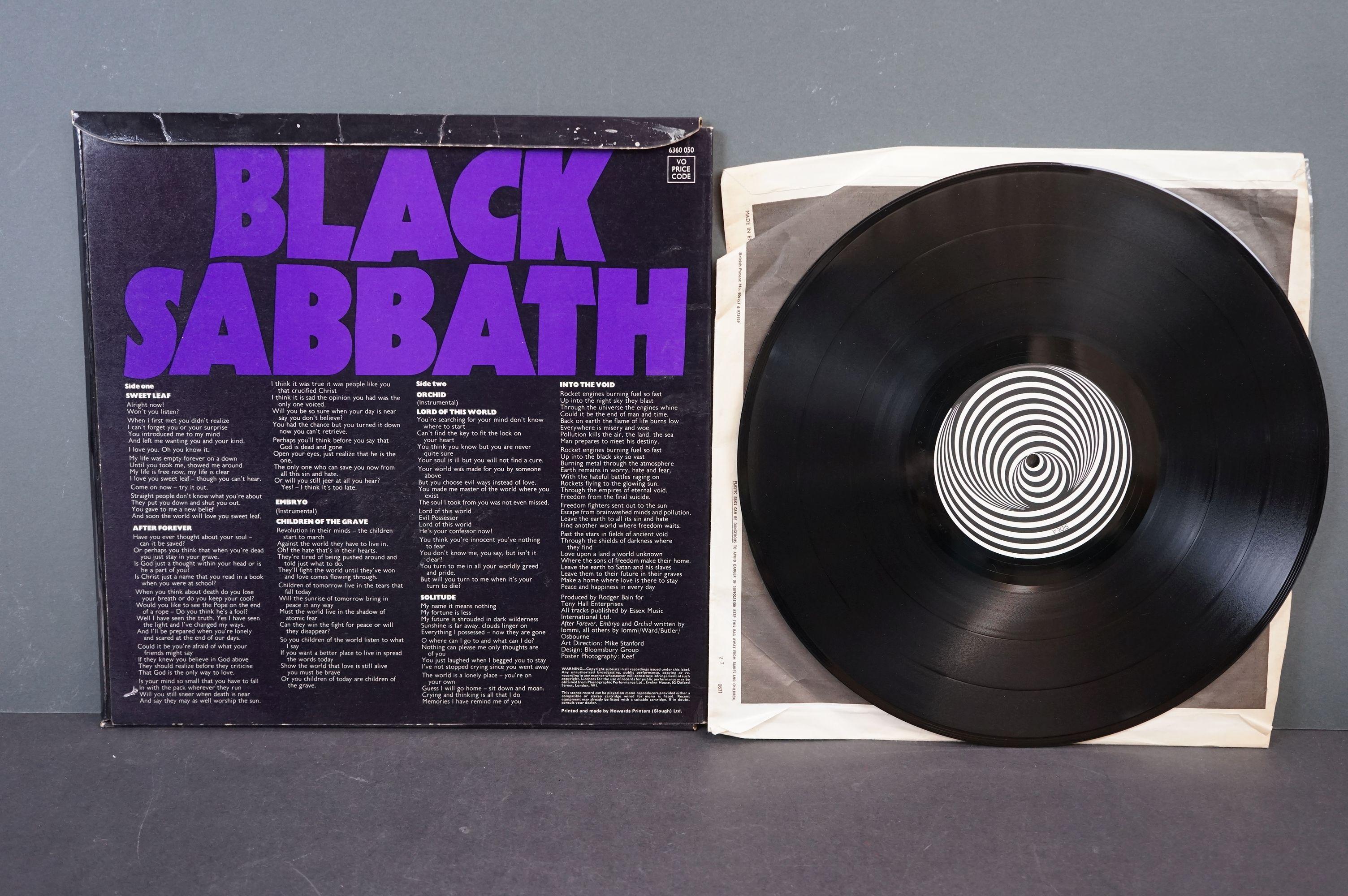 Vinyl - Black Sabbath - Master Of Reality. Original UK 1971 1st Black label, Swirl Vertigo label - Image 4 of 5