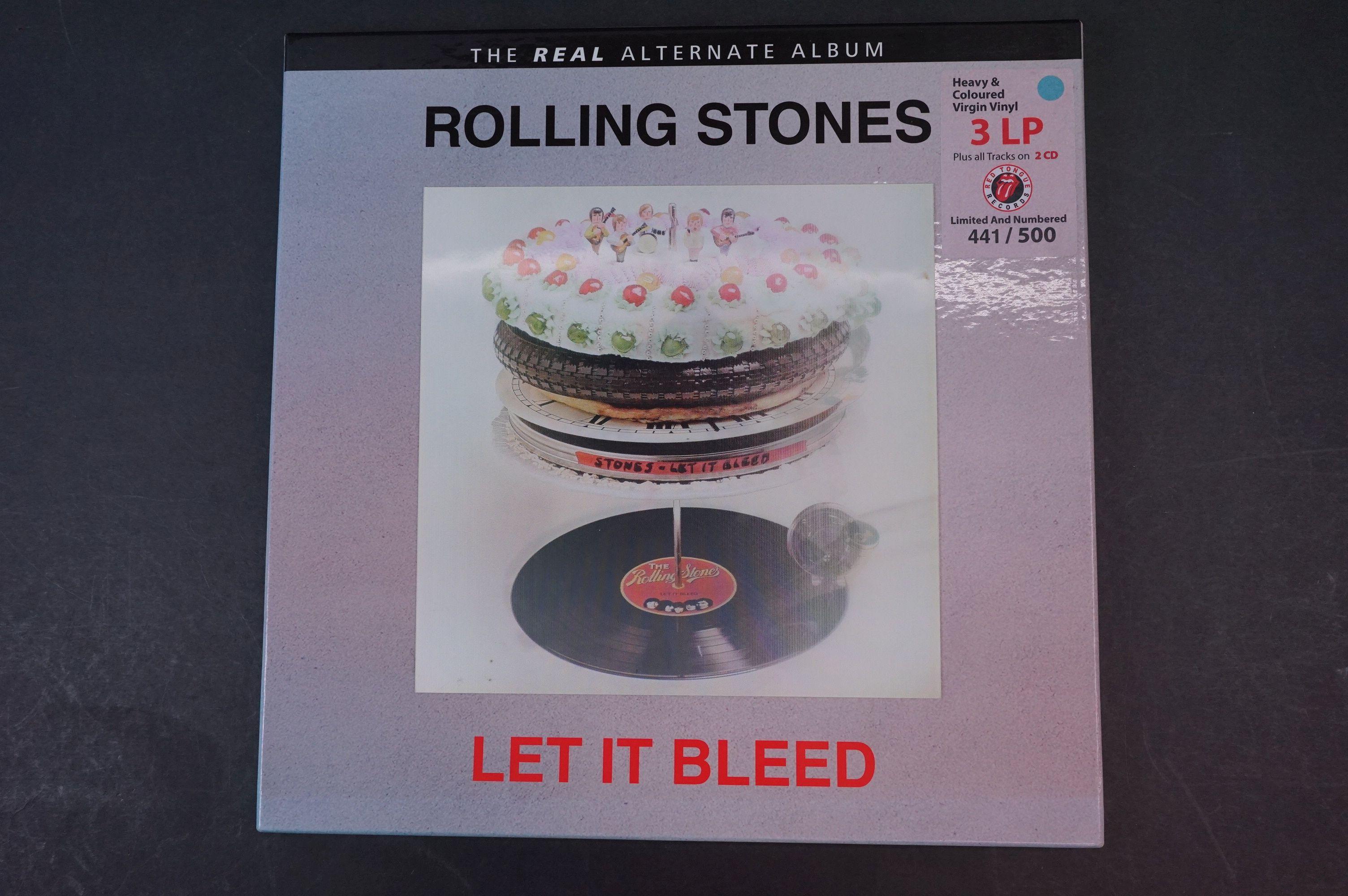 Vinyl - ltd edn The Real Alternate Album Rolling Stones Let It Bleed 3 LP / 2 CD Box Set RTR011,