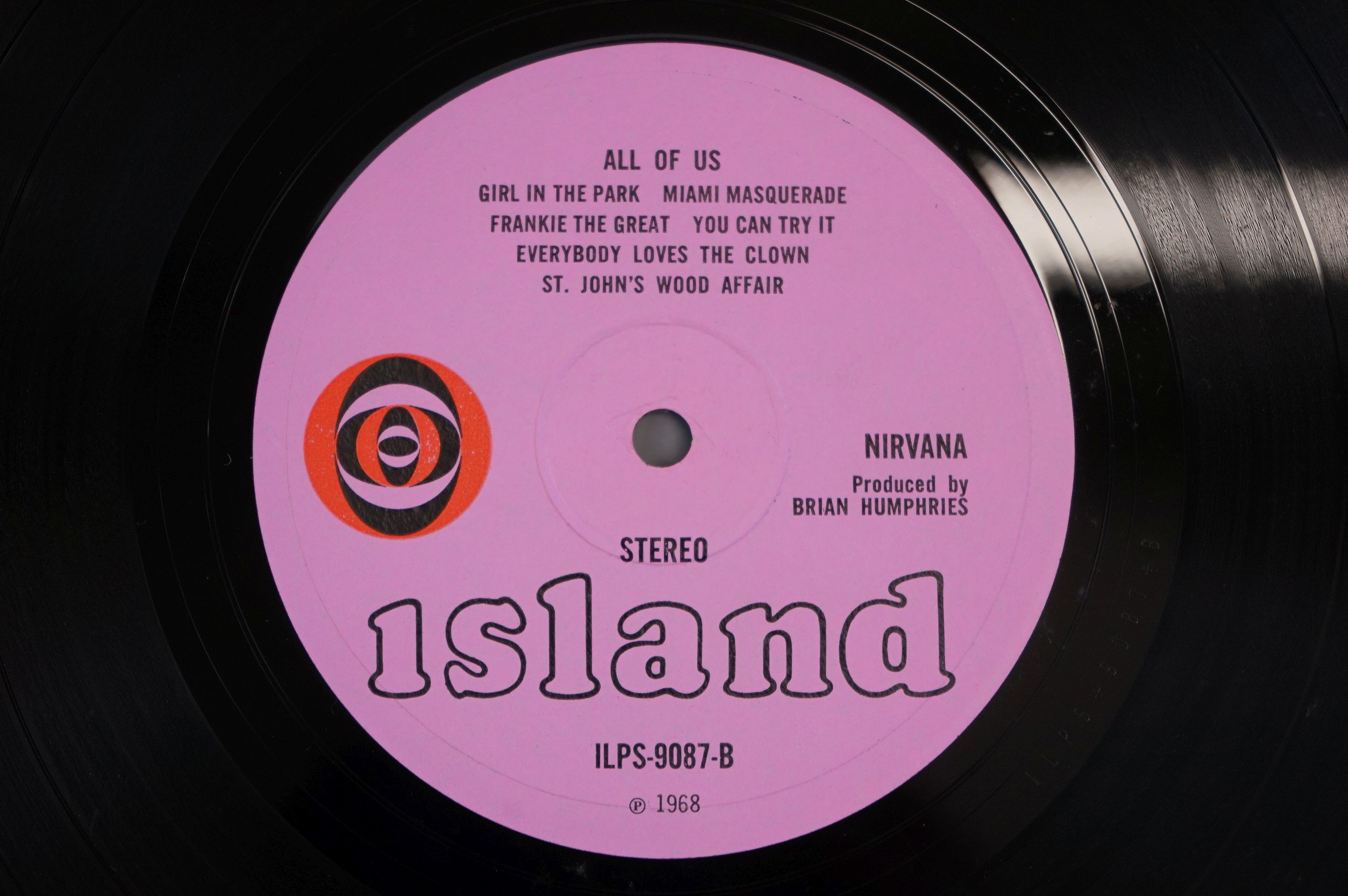 Vinyl - Nirvana All Of Us LP on Island ILPS 9087 with pink label, orange/black circle logo, - Image 5 of 6