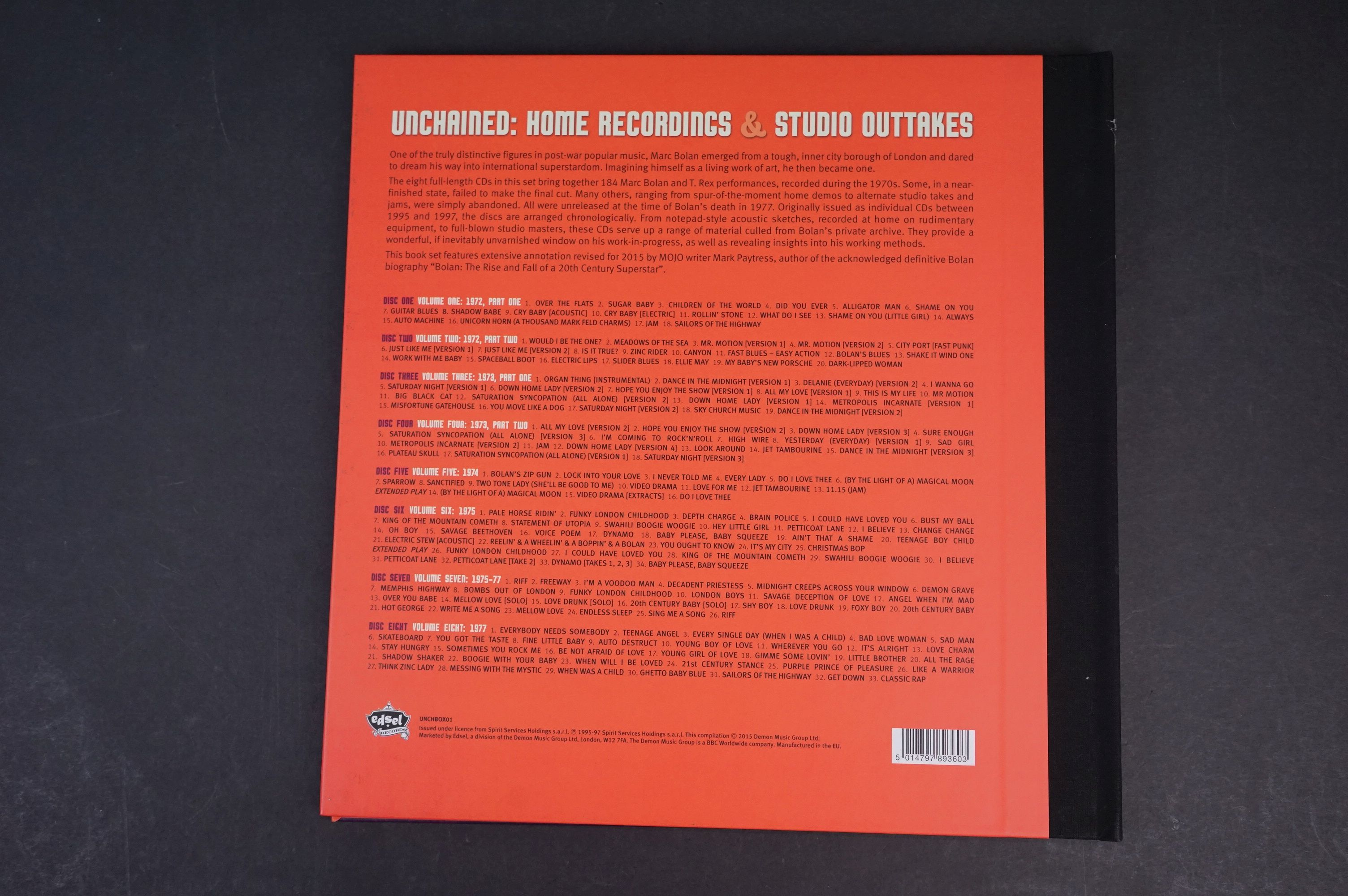 CD - Marc Bolan & T Rex Unchained Home Recordings & Studio Outtakes 8 CD Set UNCHBOX01 ex - Image 6 of 6