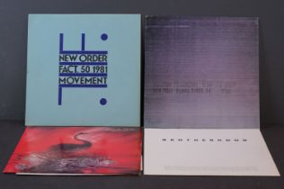 Vinyl - Two New Order LPs to include Movement FACT50 and Brotherhood FACT150 plius Depeche Mode