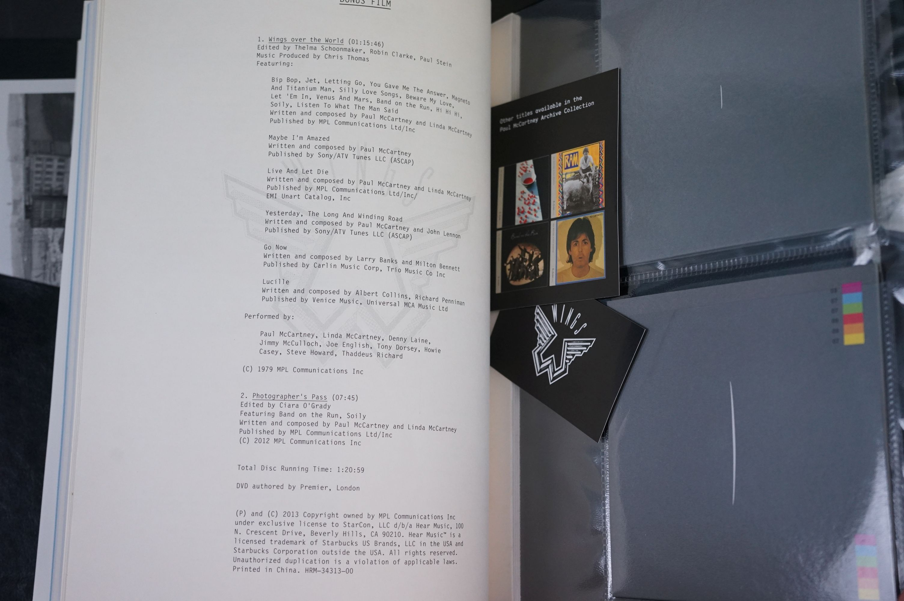 Box Set - Paul McCartney & Wings - Wings Over America numbered box set (03555) deluxe box set, ex - Image 5 of 18