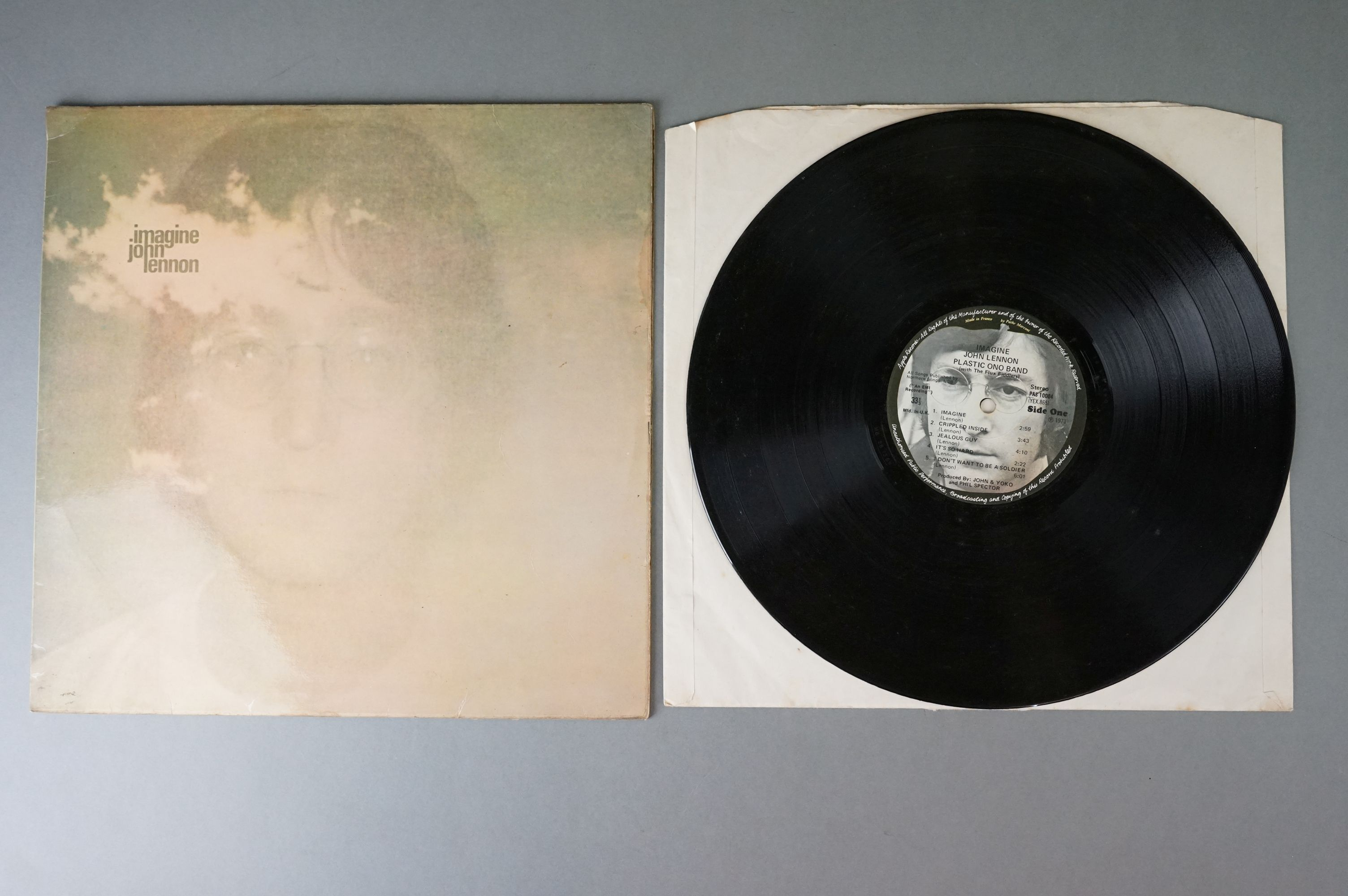 Vinyl - The Beatles & John Lennon 3 LP's to include Let It Be (PCS 7096) Stereo, incorrect inner, - Image 4 of 8