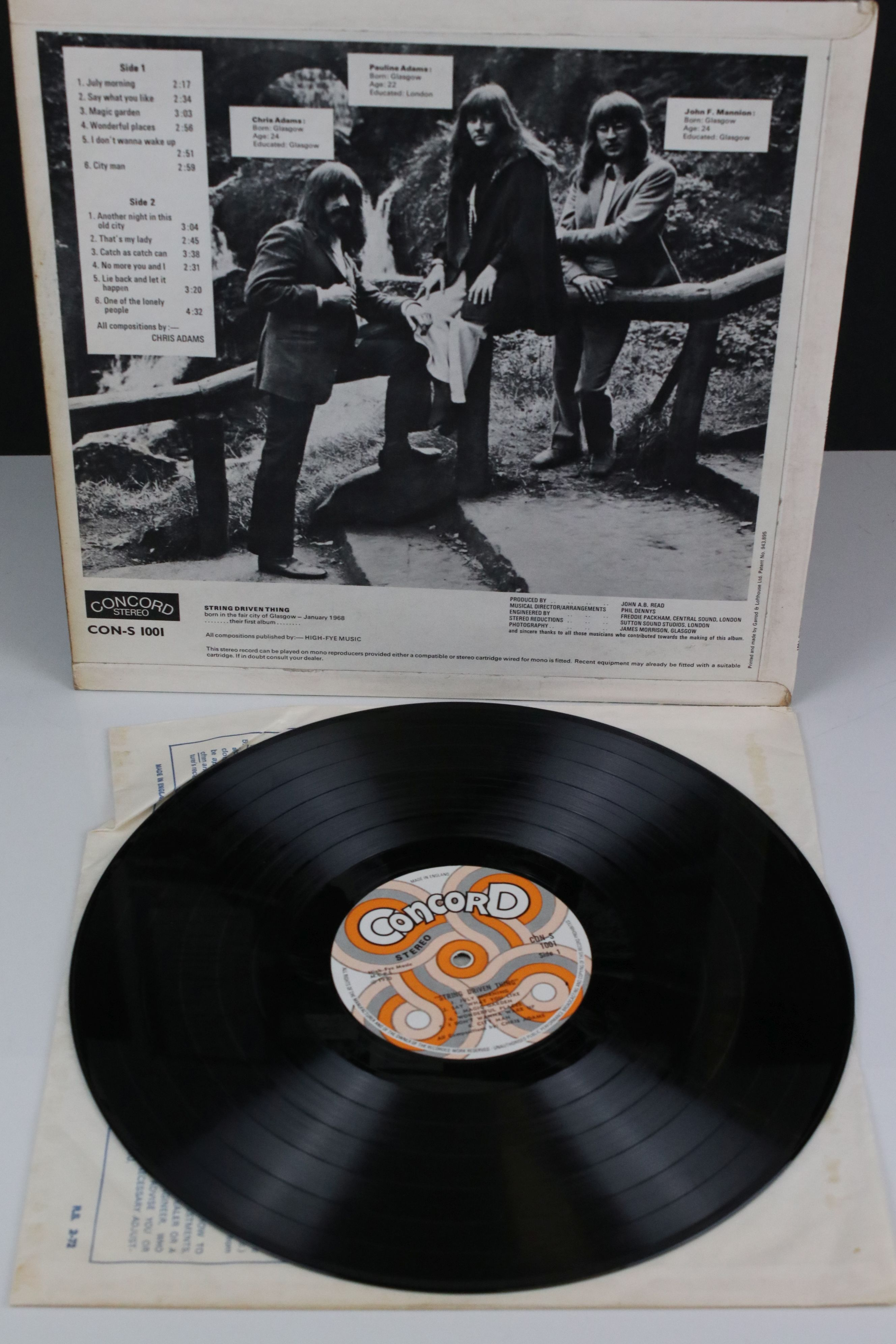 Vinyl - String Driven Thing self titled LP on Concord CON1001 Stereo, first album for the Concorde - Image 2 of 4