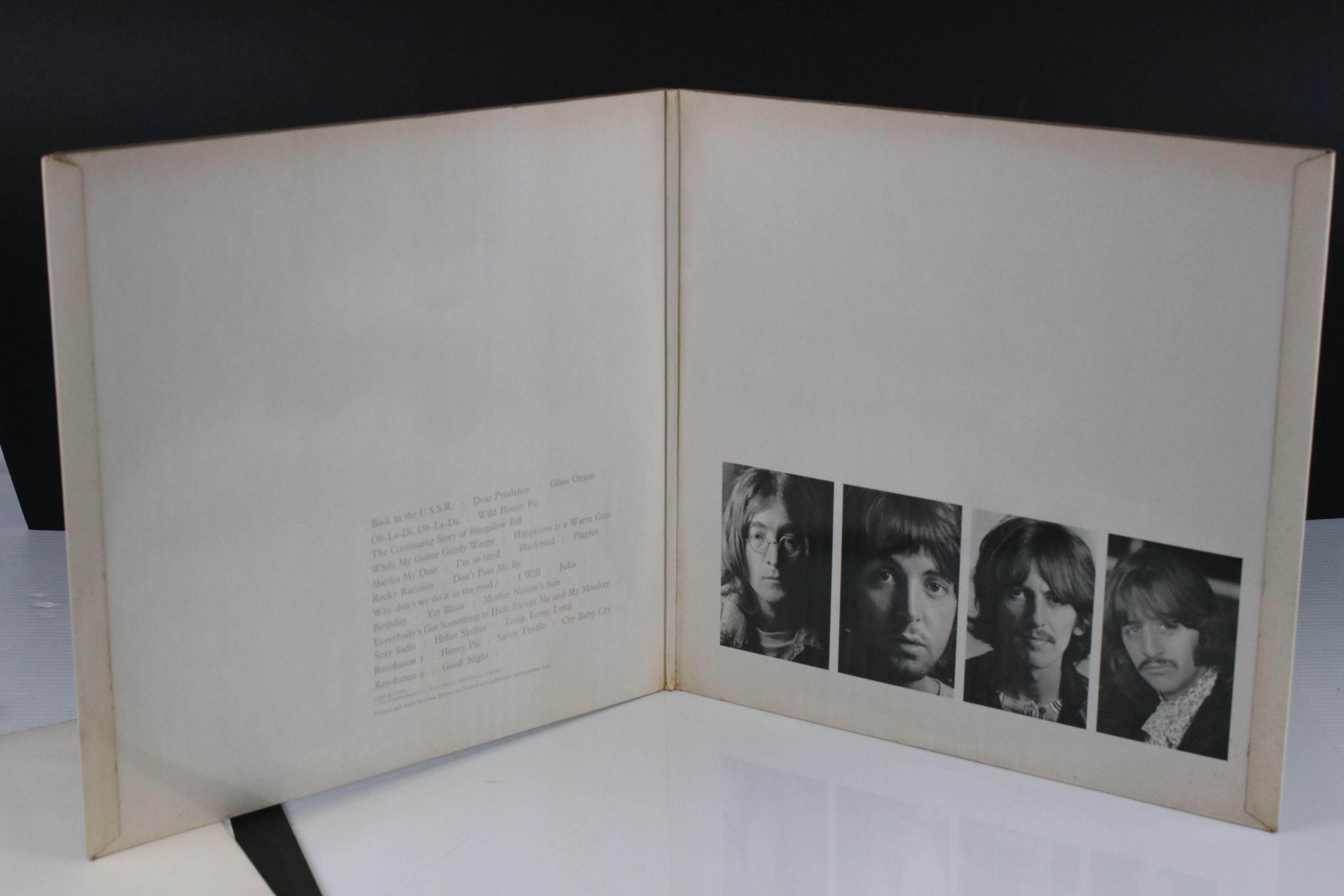 Vinyl - The Beatles White Album LP mono PMC7067-8, numbered 0001376 with 8 x coloured prints and - Image 9 of 10