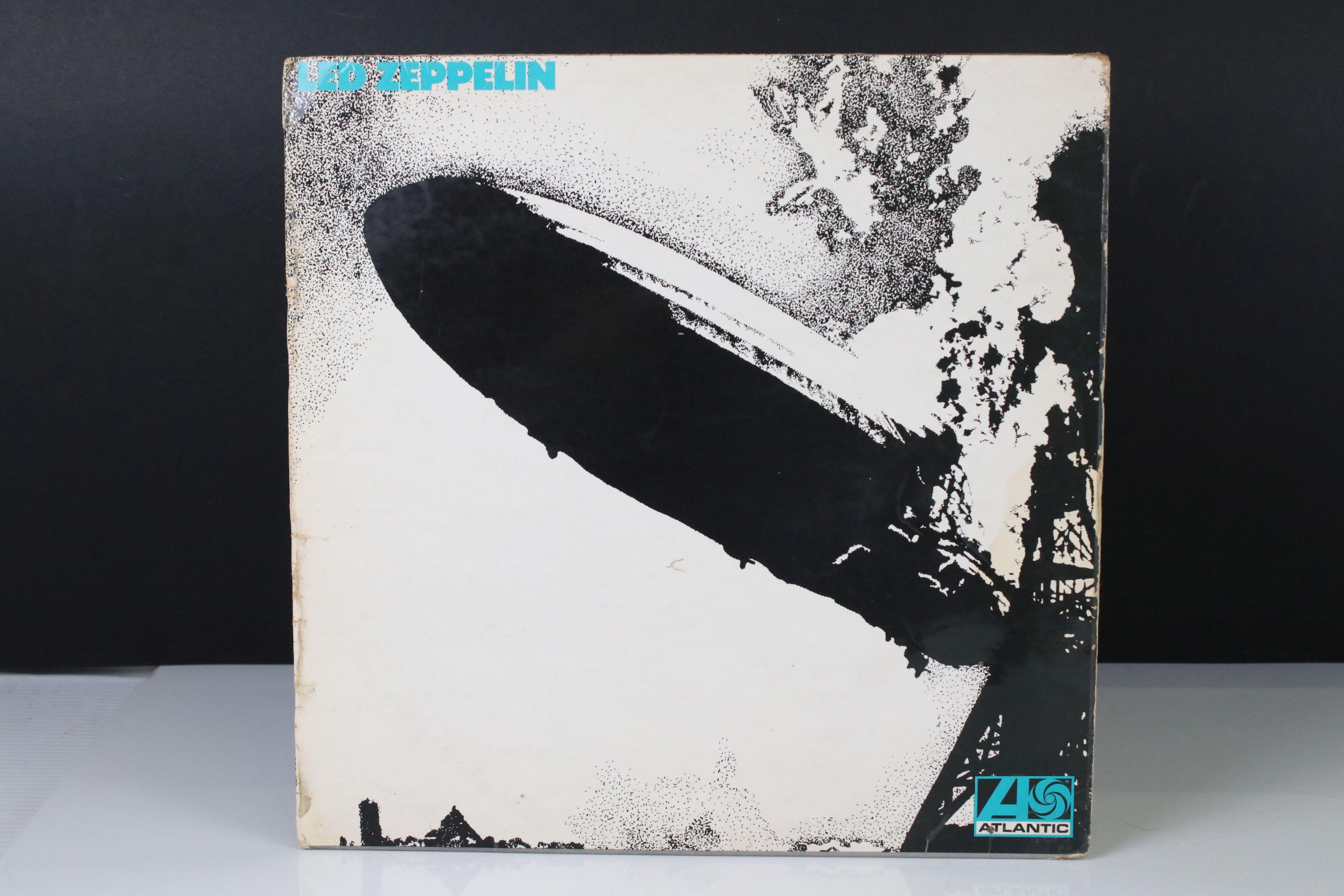 Vinyl - Led Zeppelin One (588171) Atlantic red/maroon label, Superhype publishing credit,