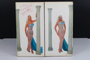 Signed Vinyl - Diana Dors Swingin Dors LPs on Pye red vinyl, vg, autographed 'To Tony Sincerely