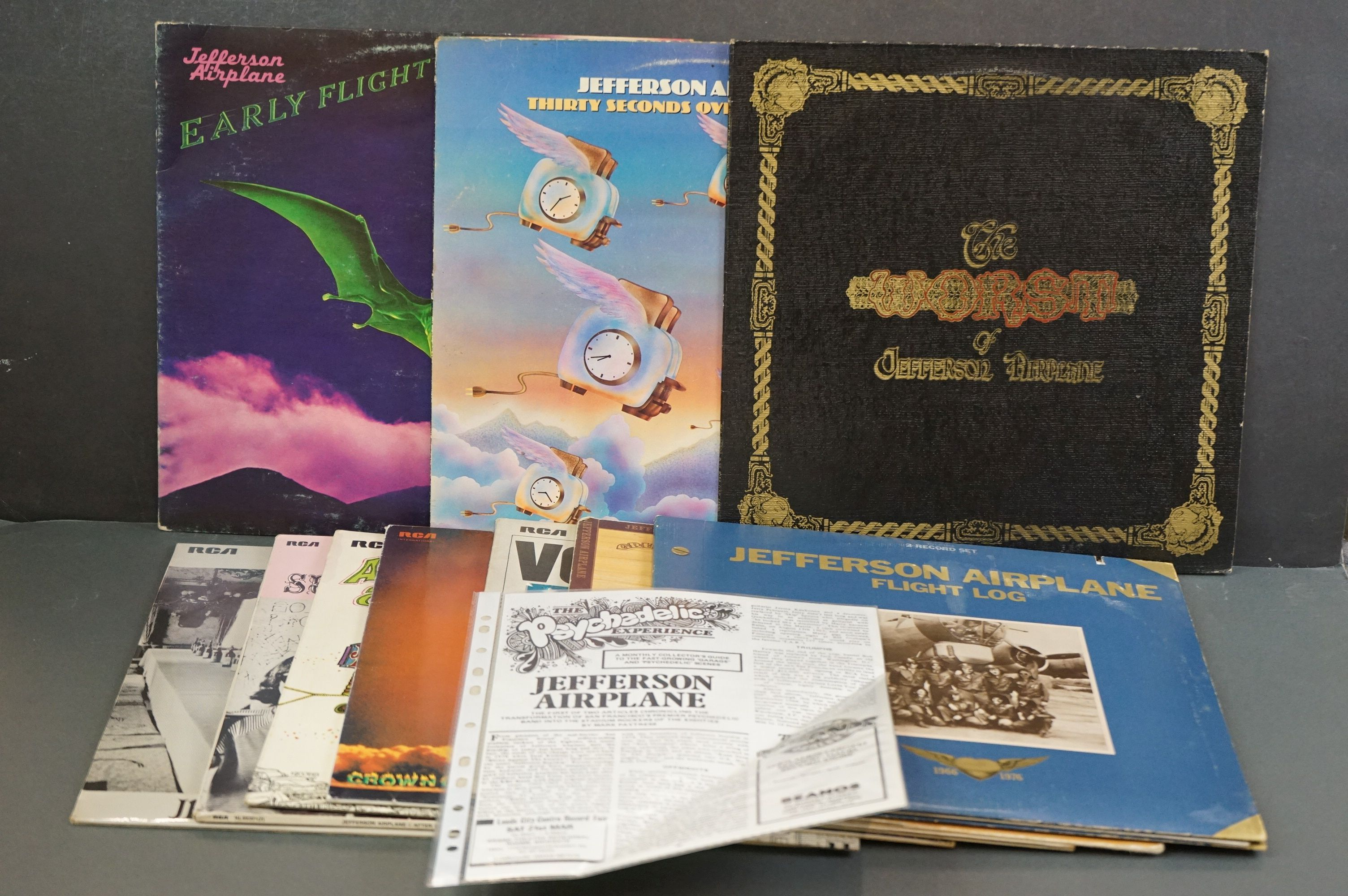 Vinyl - 10 Jefferson Airplane LPs to include Surrealistia Pillow / After Bathing at Baxter's (89301)