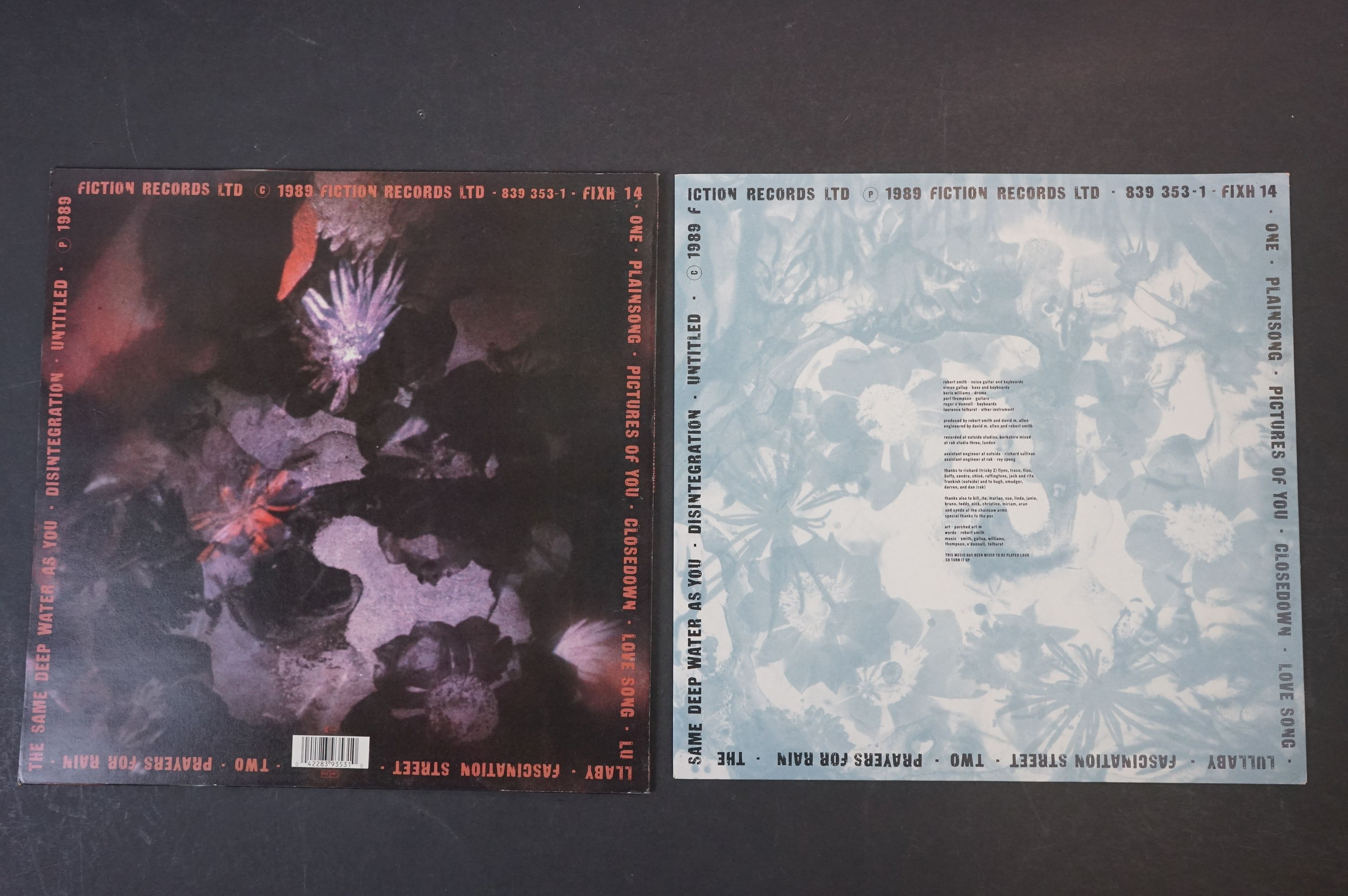 Vinyl - The Cure Disintegration LP on Fiction Records FIXH14 with inner, vg+ with light marks - Image 2 of 5