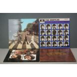 Vinyl - The Beatles 4 LP's to include A Hard Days Night (PCS 3058) Stereo, two EMI boxes label,