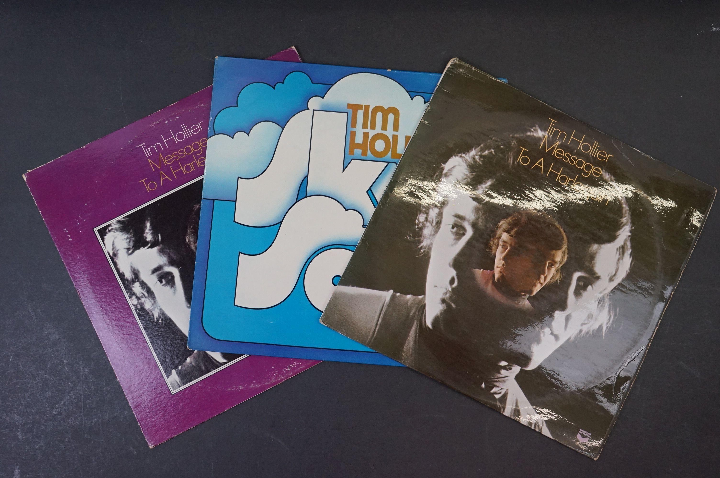 Vinyl - Acid Folk / Psych - Tim Hollier, Three scarce original pressing albums to include ??