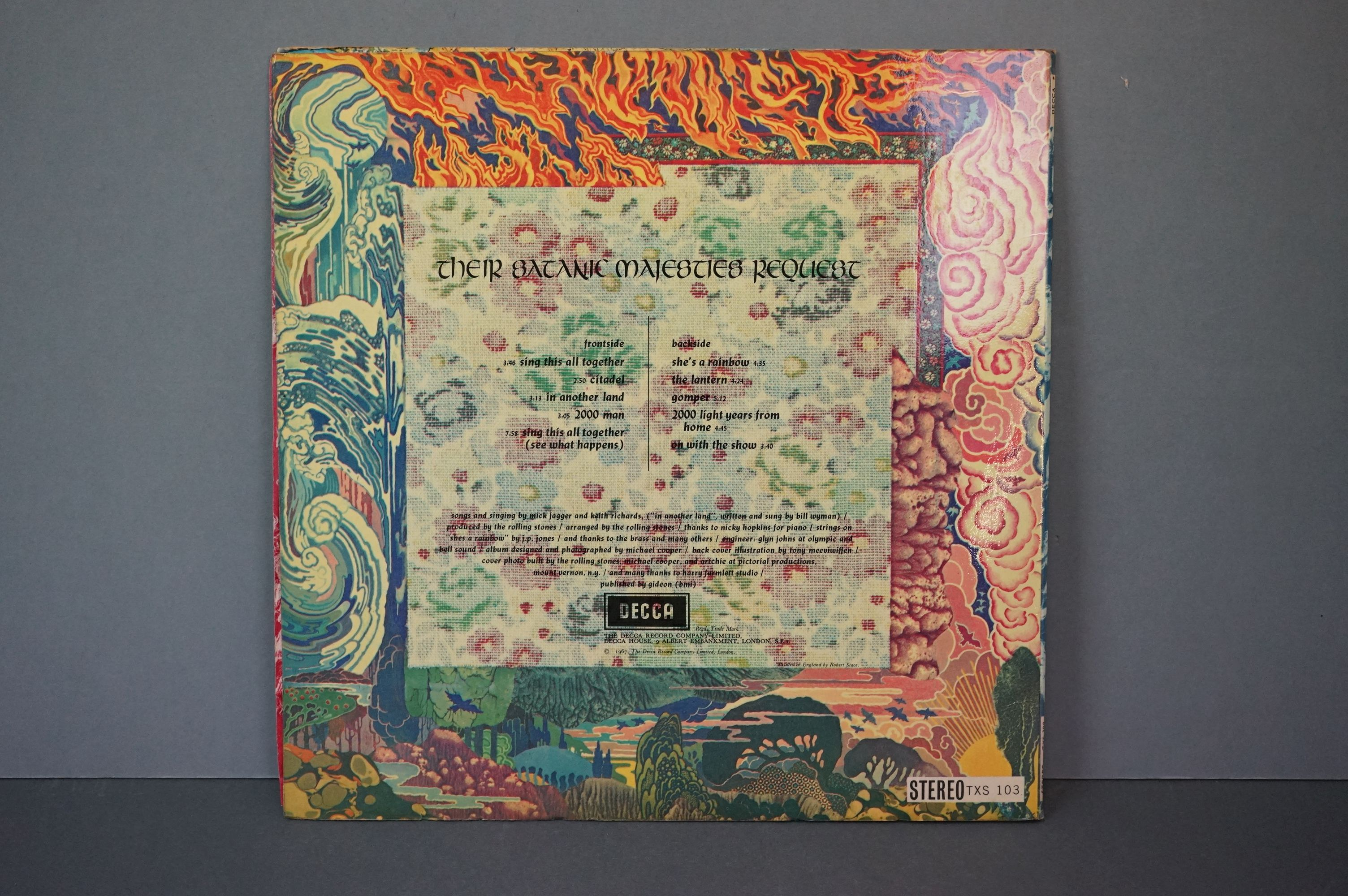 Vinyl - The Rolling Stones Their Satanic Majesties Request TXS103, Decca unboxed green stereo label, - Image 6 of 7