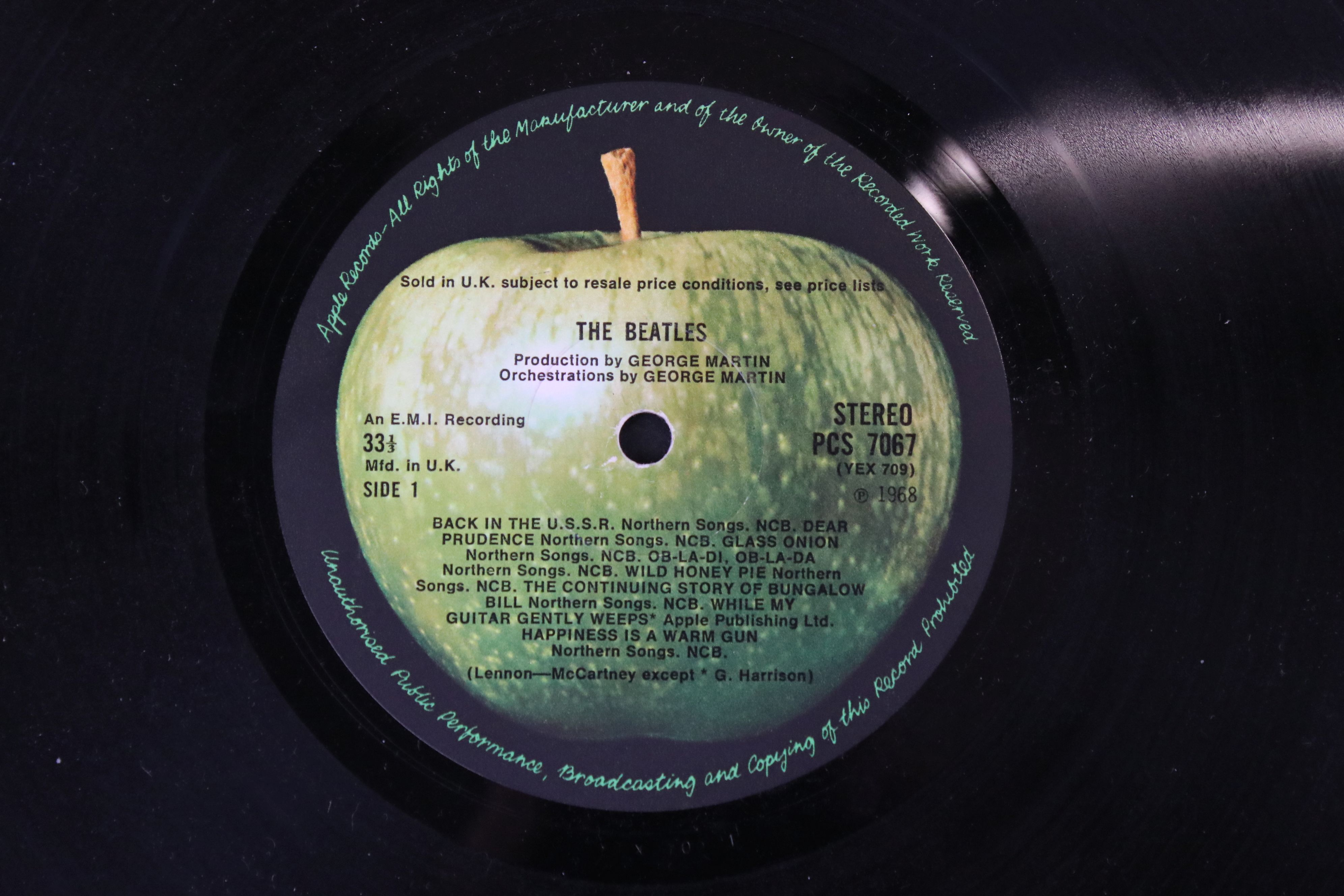 Vinyl - The Beatles White Album LP mono PMC7067-8, numbered 0001376 with 8 x coloured prints and - Image 2 of 10