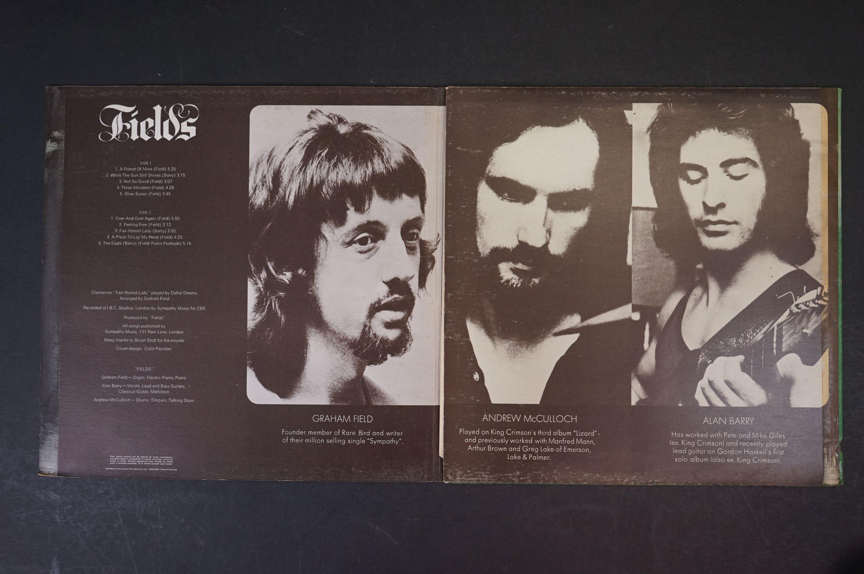 Vinyl - Prog Rock - Fields - Fields. UK 1st 1971 pressing with scarce poster, gatefold sleeve is - Image 2 of 6