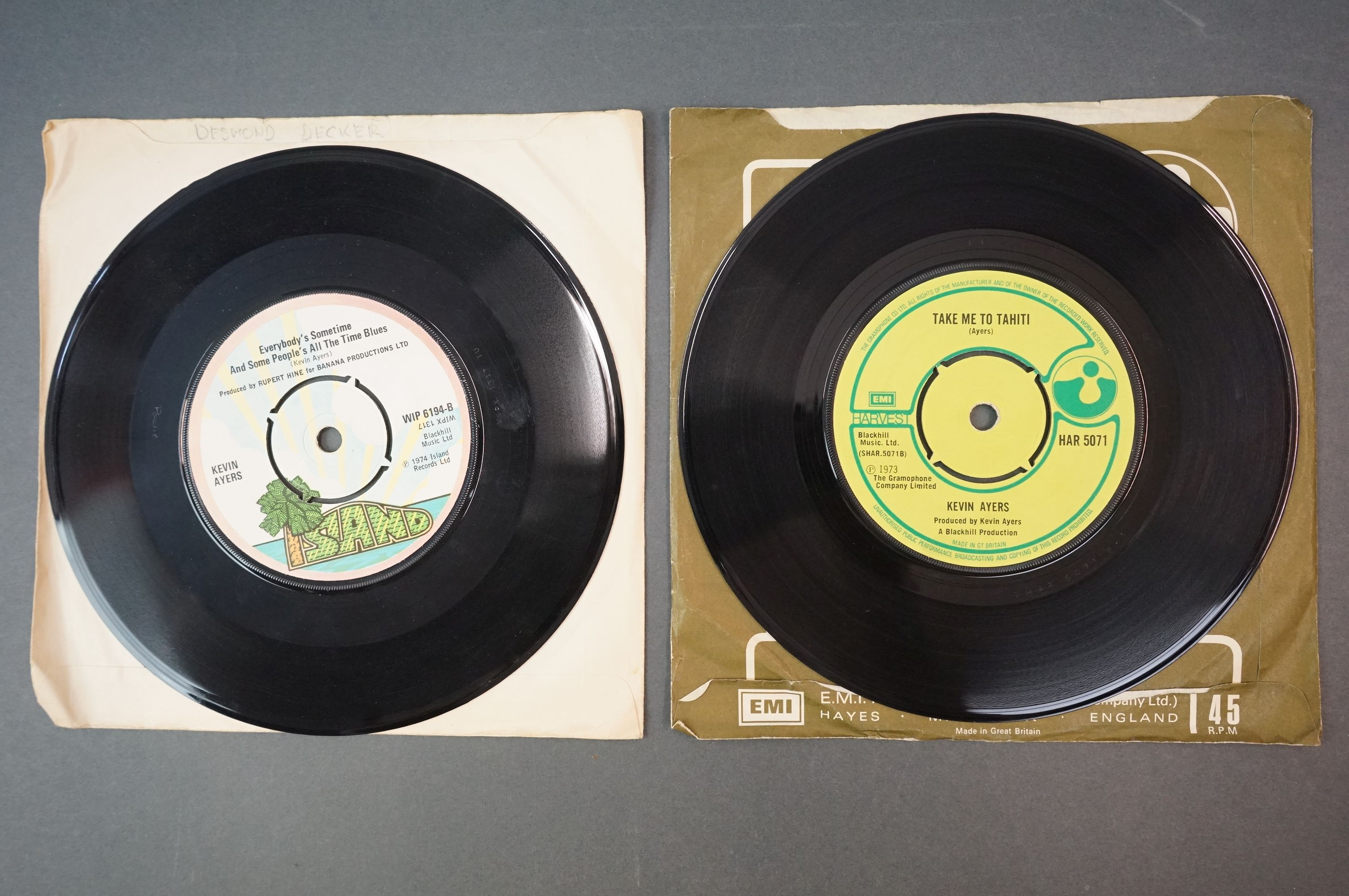 Vinyl - Kevin Ayers 1 LP The Confessions Of Dr Dream (ILPS 9263) lyric inner plus 7 inch singles - Image 5 of 5