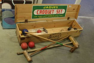 Jaques of London Croquet Set in it's Pine Box