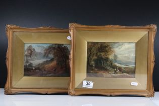 Thomas Whittle Junior (British 1865-1892), pair of framed and glazed watercolours of rural scenes,