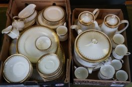 A Paragon Athena pattern china part dinner / tea service with gilt decoration.