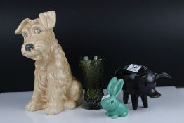 A small group of collectables to include Sylvac bunny and Sylvac dog figures.