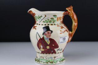 Crown Devon Fieldings ' John Peel ' musical hunting jug.