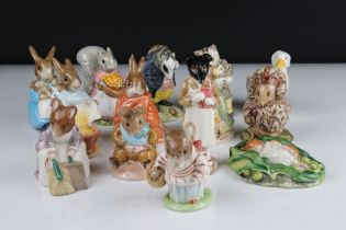 Fourteen Beswick Beatrix Potter Figures to include Old Mr Bouncers, Timmy Willie Sleeping, Mr Tittle