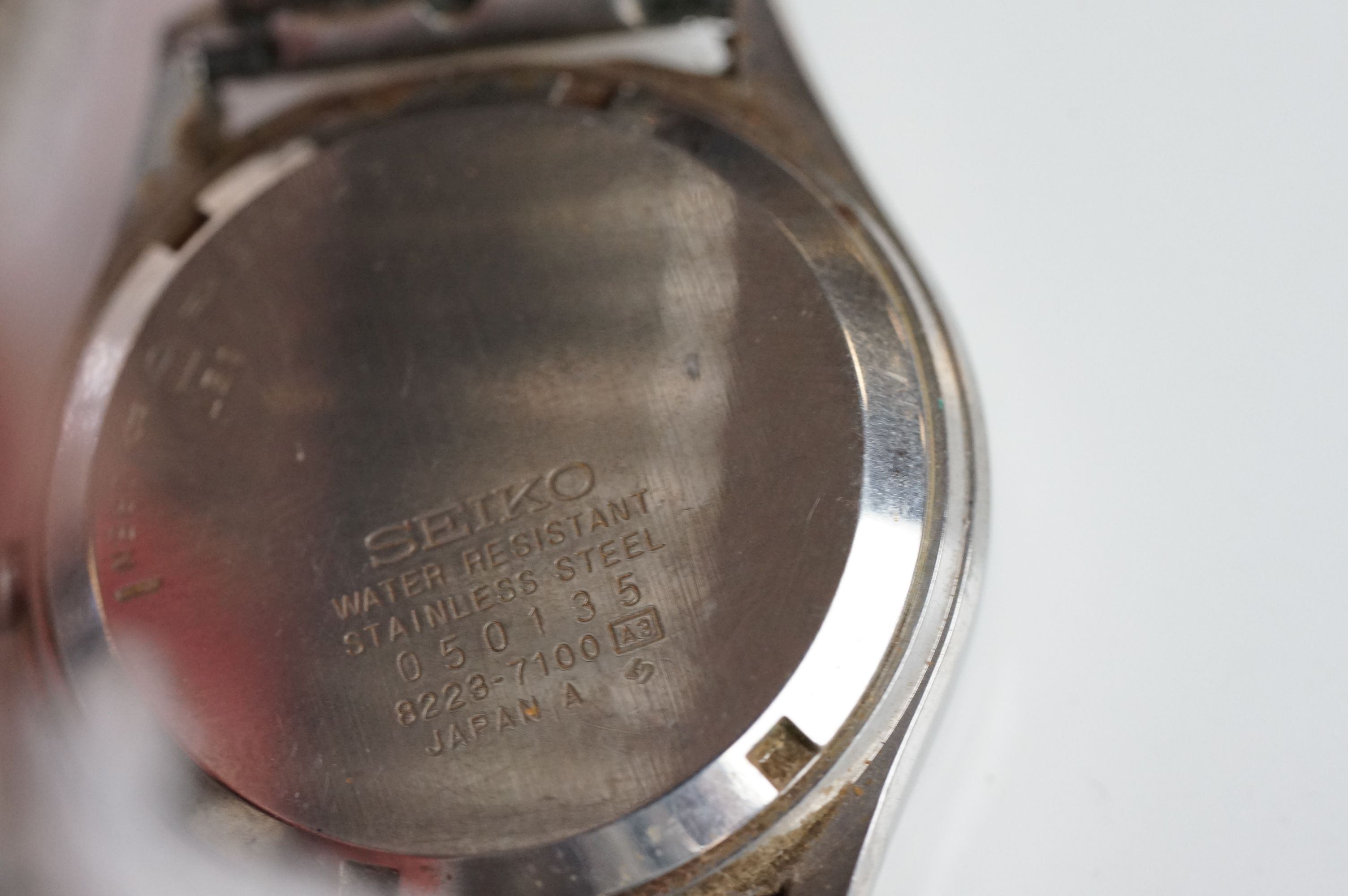 A selection of three Seiko SQ watches to include a gents and two ladies examples. - Image 5 of 15