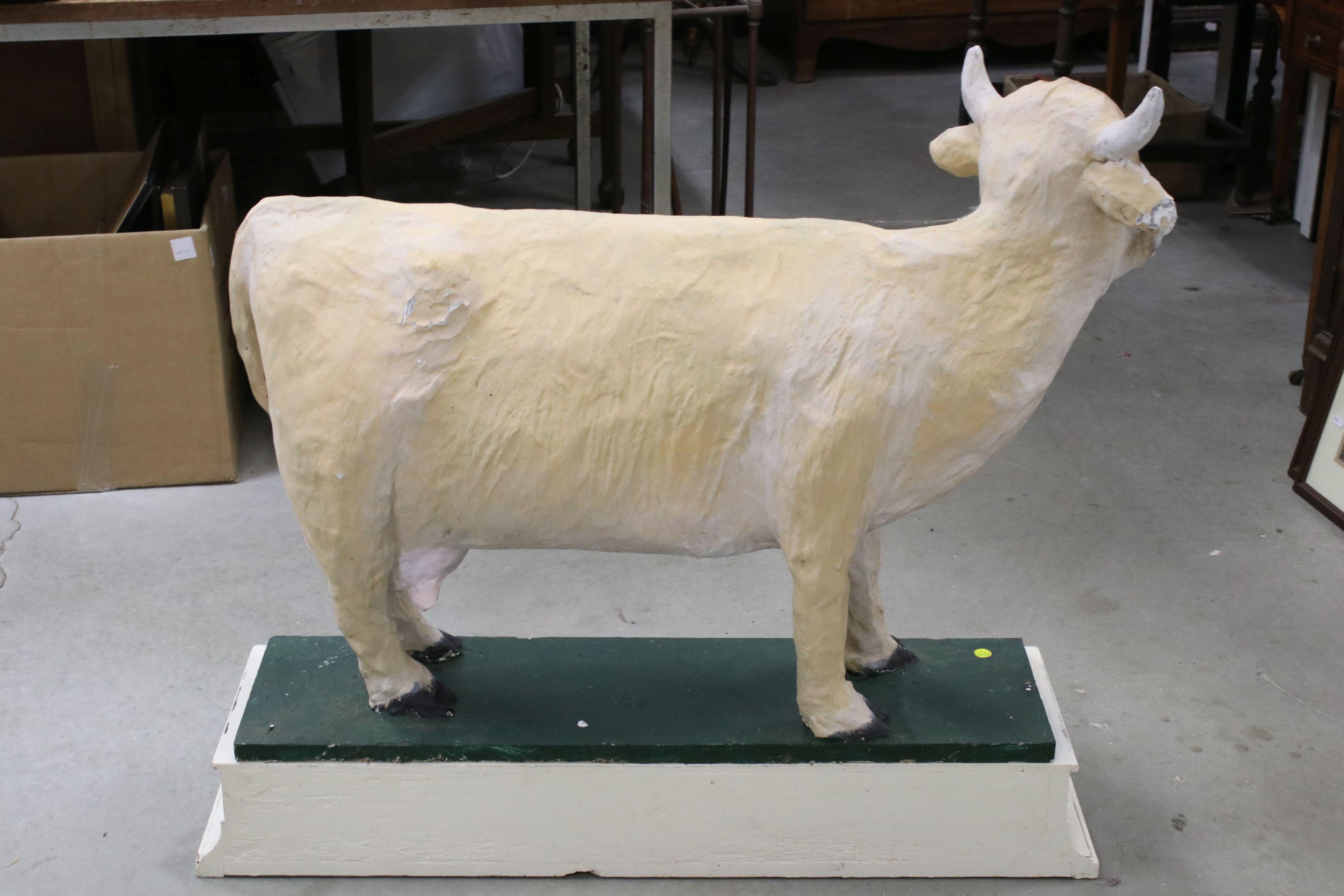 Large vintage papier mache cow advertising Devonshire Cream Teas - Image 4 of 6