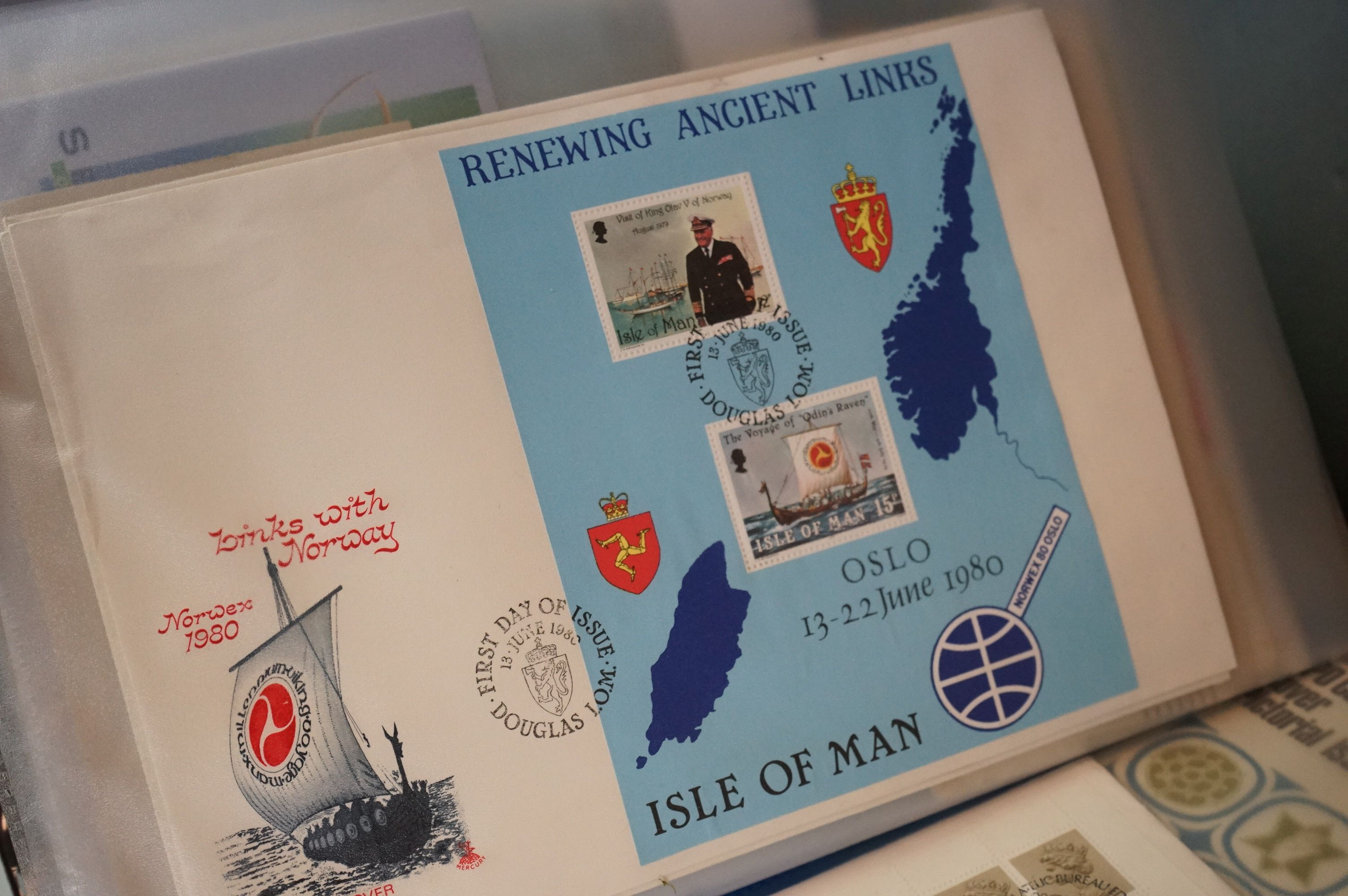 A large collection of British, Commonwealth and world stamps contained within albums. - Image 5 of 7