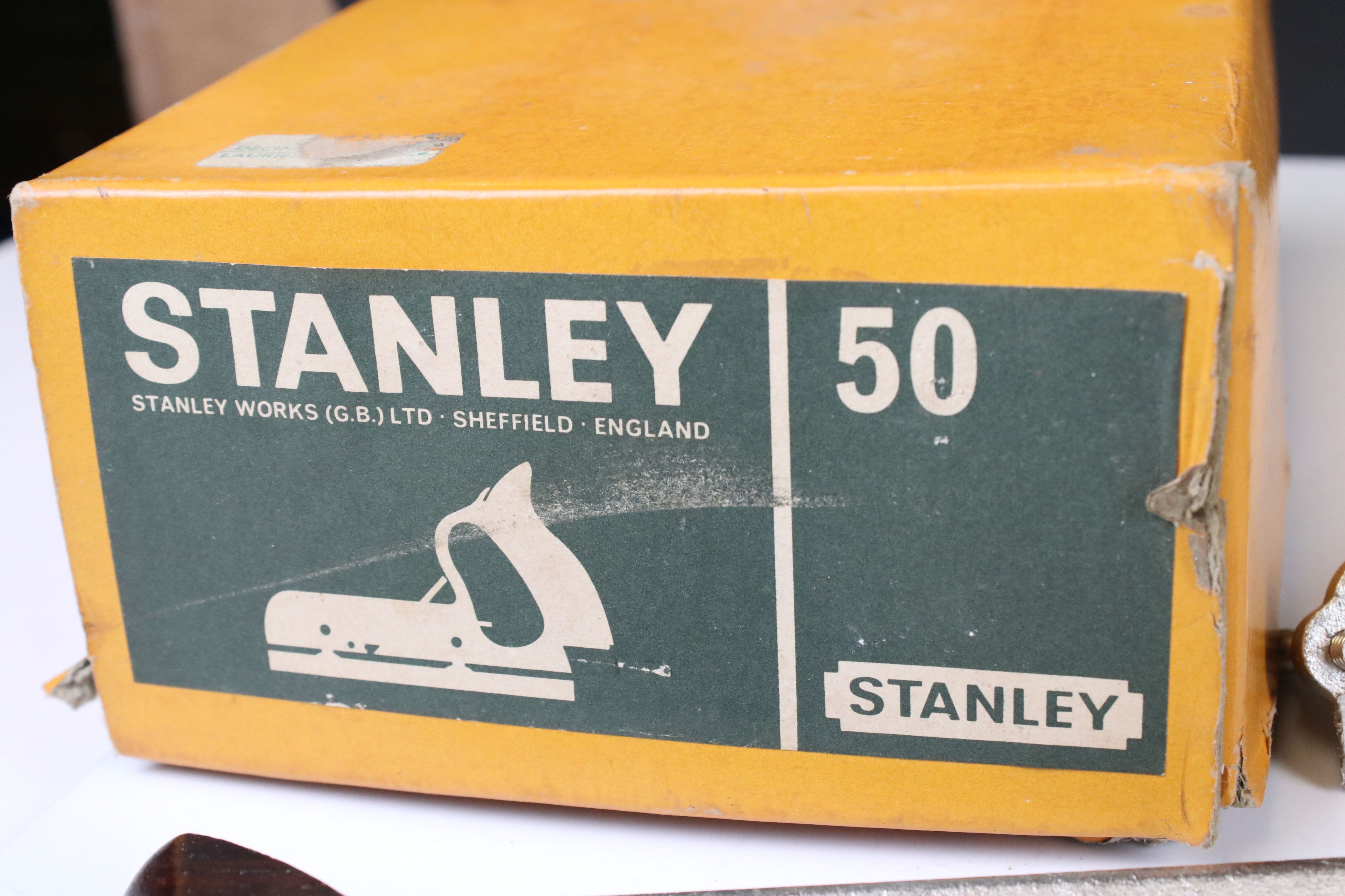 Boxed Stanley No. 50 Combination Plane together with a Stanley No. 71 Router Plane - Image 7 of 7