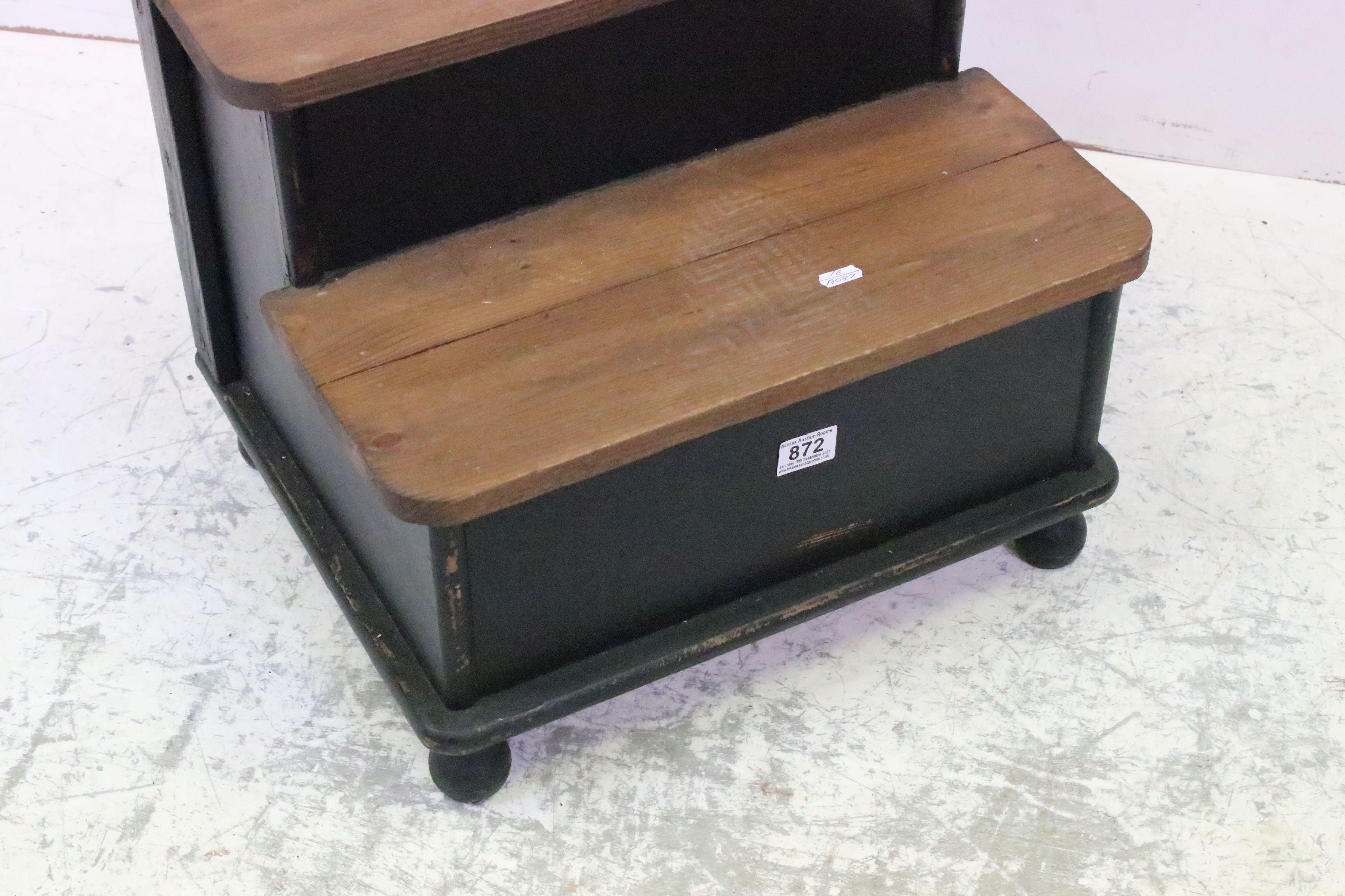 Set of pine dresser library steps - Image 2 of 3