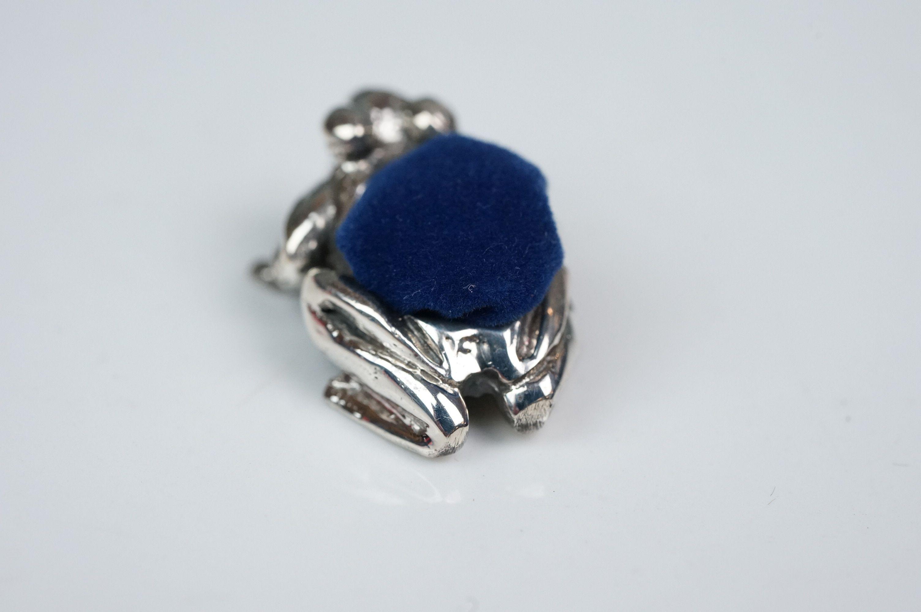 Silver frog pincushion - Image 2 of 4