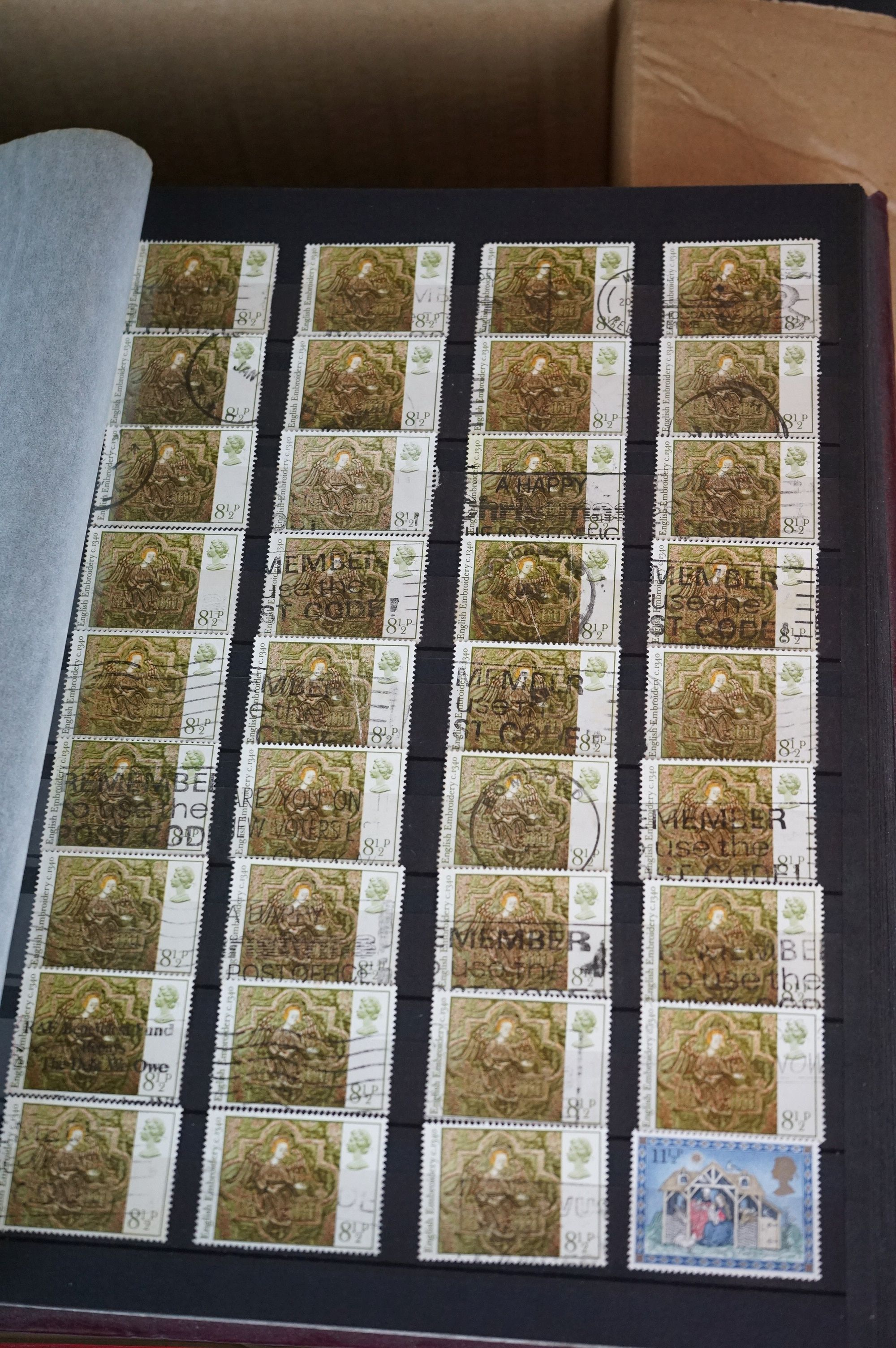 A collection of British and world stamps contained within seven albums together with a quantity of - Image 3 of 9
