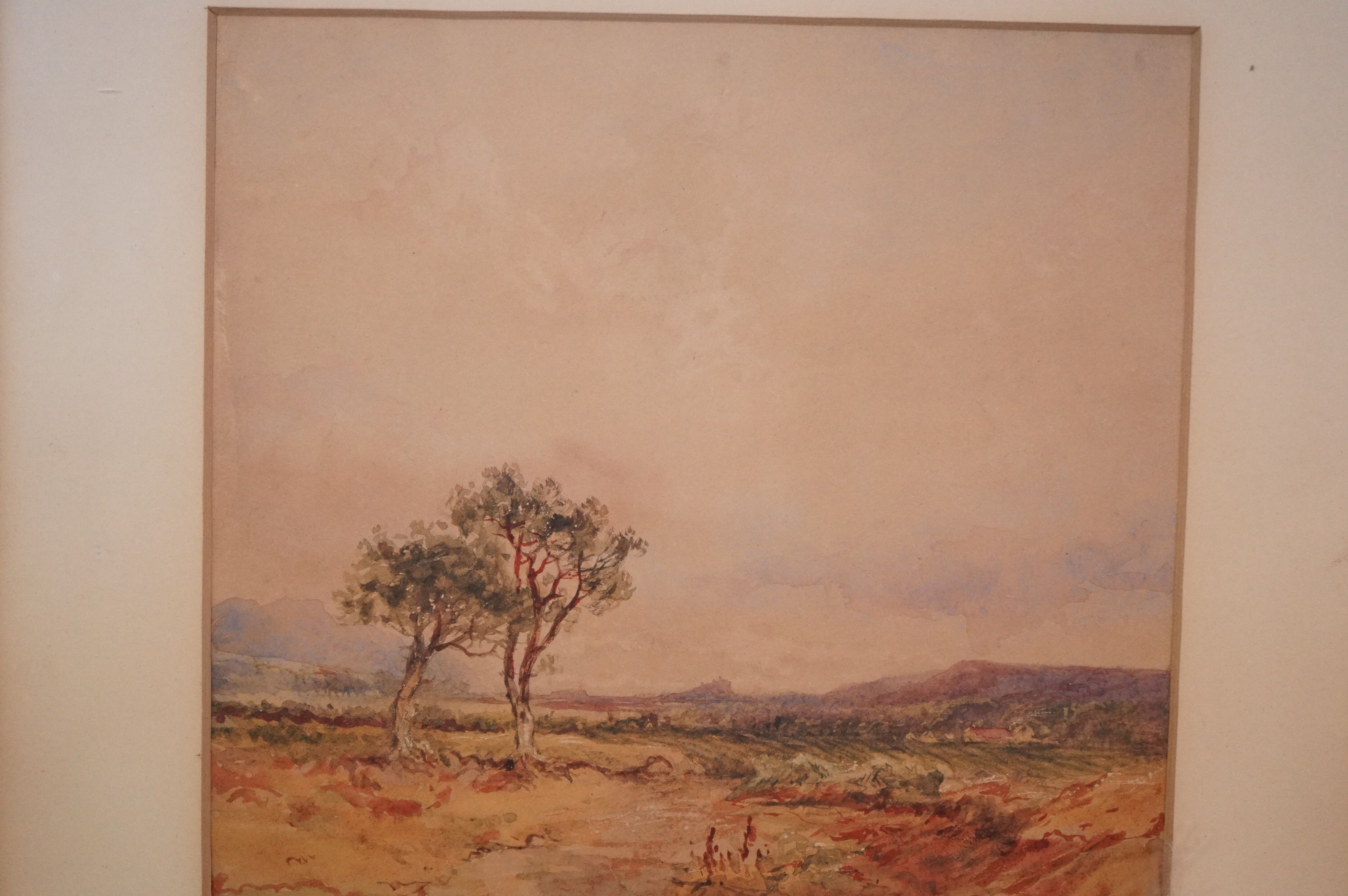 19th Century Colonial School Extensive landscape with mountains in the distance, possibly South - Image 2 of 4