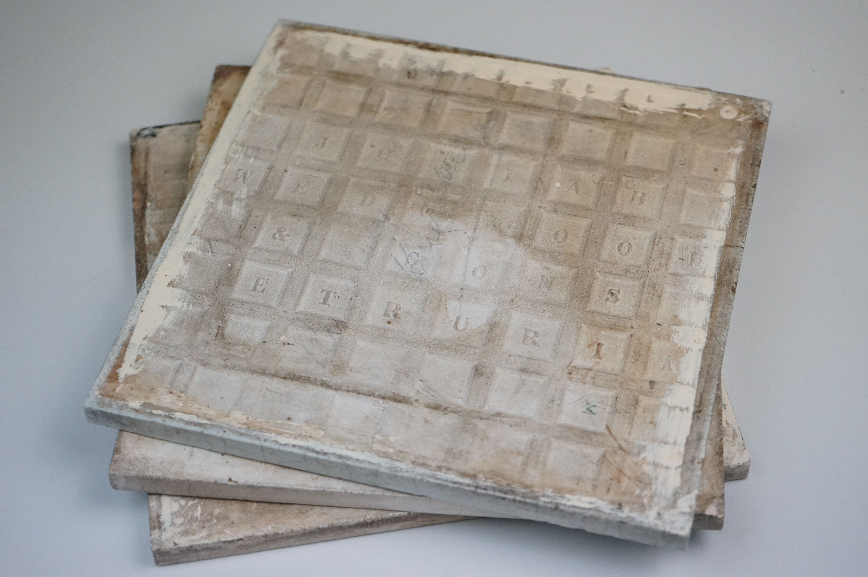 """Three Wedgwood Etruria 8"""" Old English tiles, May, August & January - Image 6 of 6"""