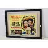 Circa 1954, a framed original American movie poster for 'Passion' with Cornel Wilde, Yvonne de