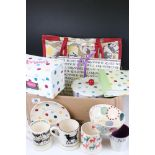 Emma Bridgewater - Three Mugs including Friesian, Lucky Black Cat and Stags, Polka Dot Saucer,