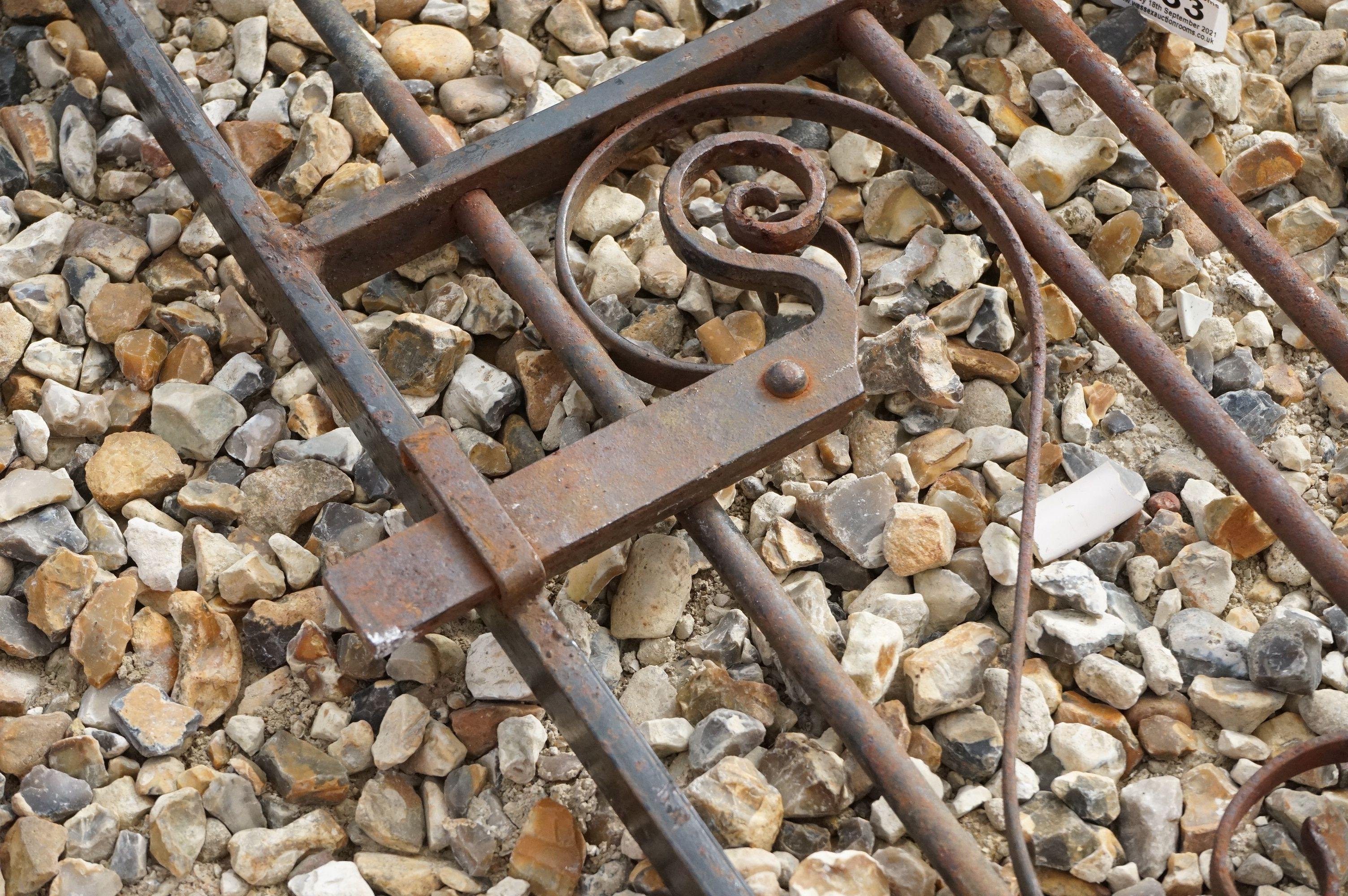 A vintage wrought iron Garden gate. - Image 5 of 5