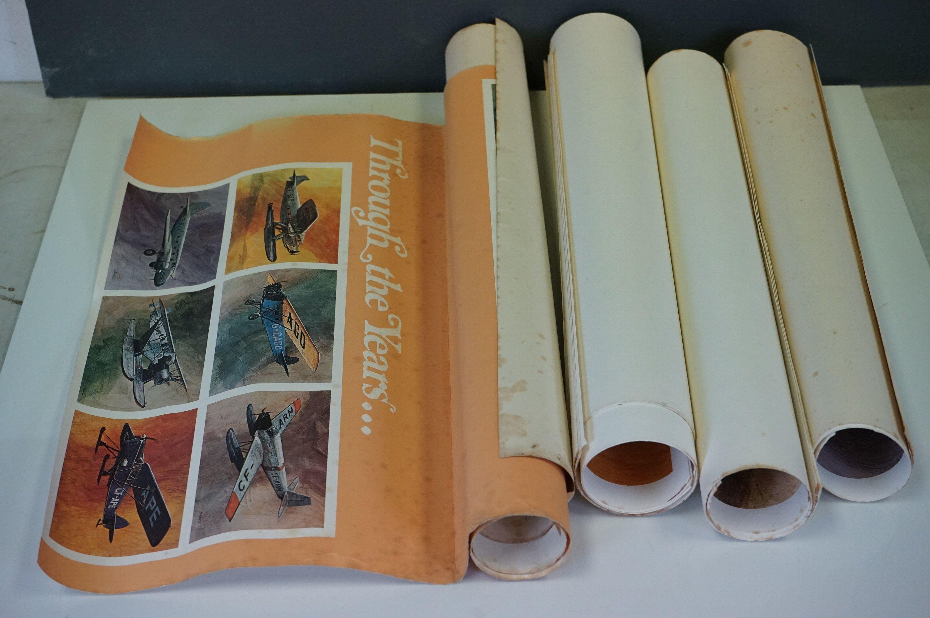 Set of Twelve Prints of CP Air Airplanes taken from paintings of West Coast Artist Robert Banks