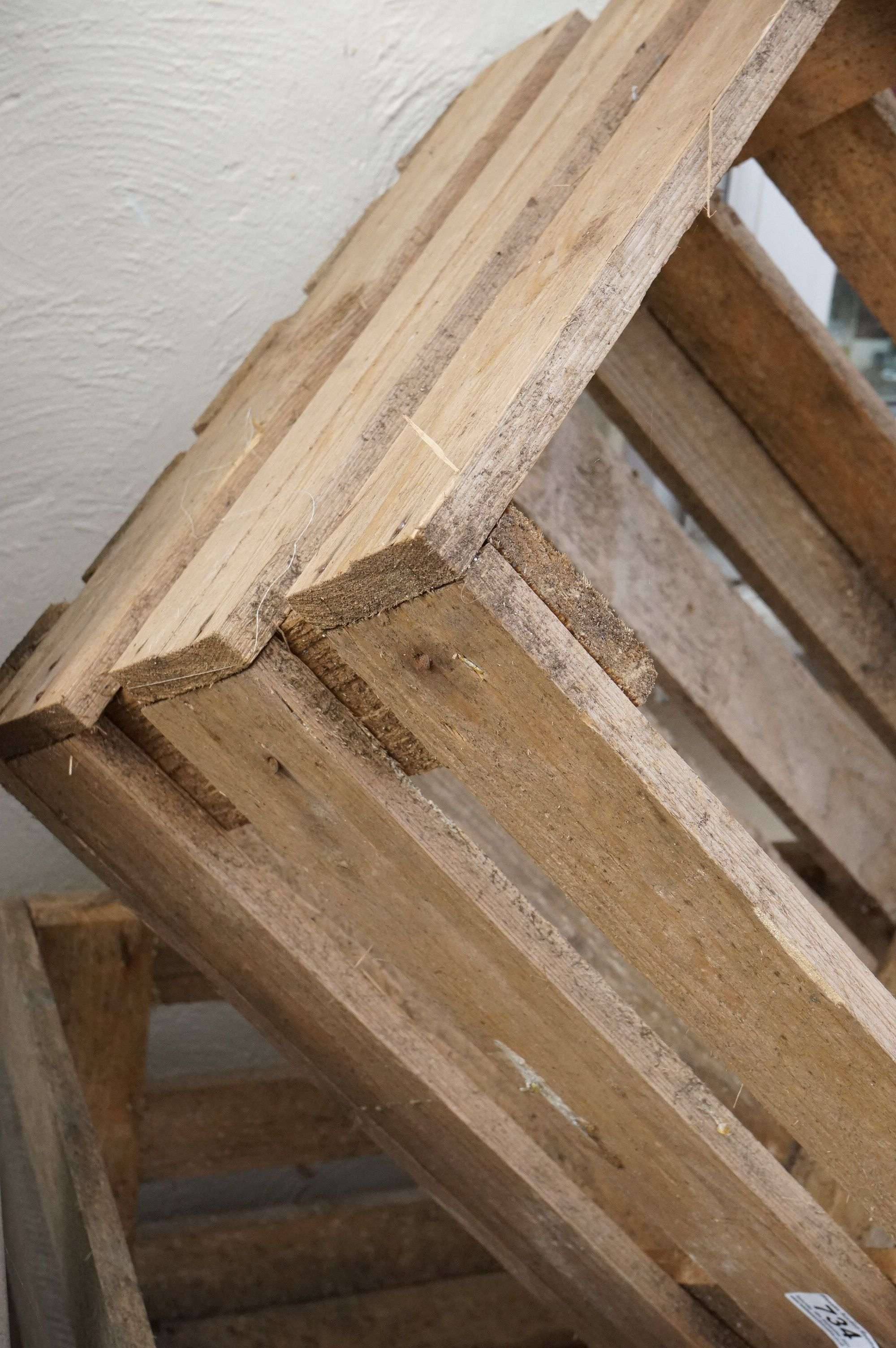 Four stacking pine crates for apples / vegetables - Image 4 of 4