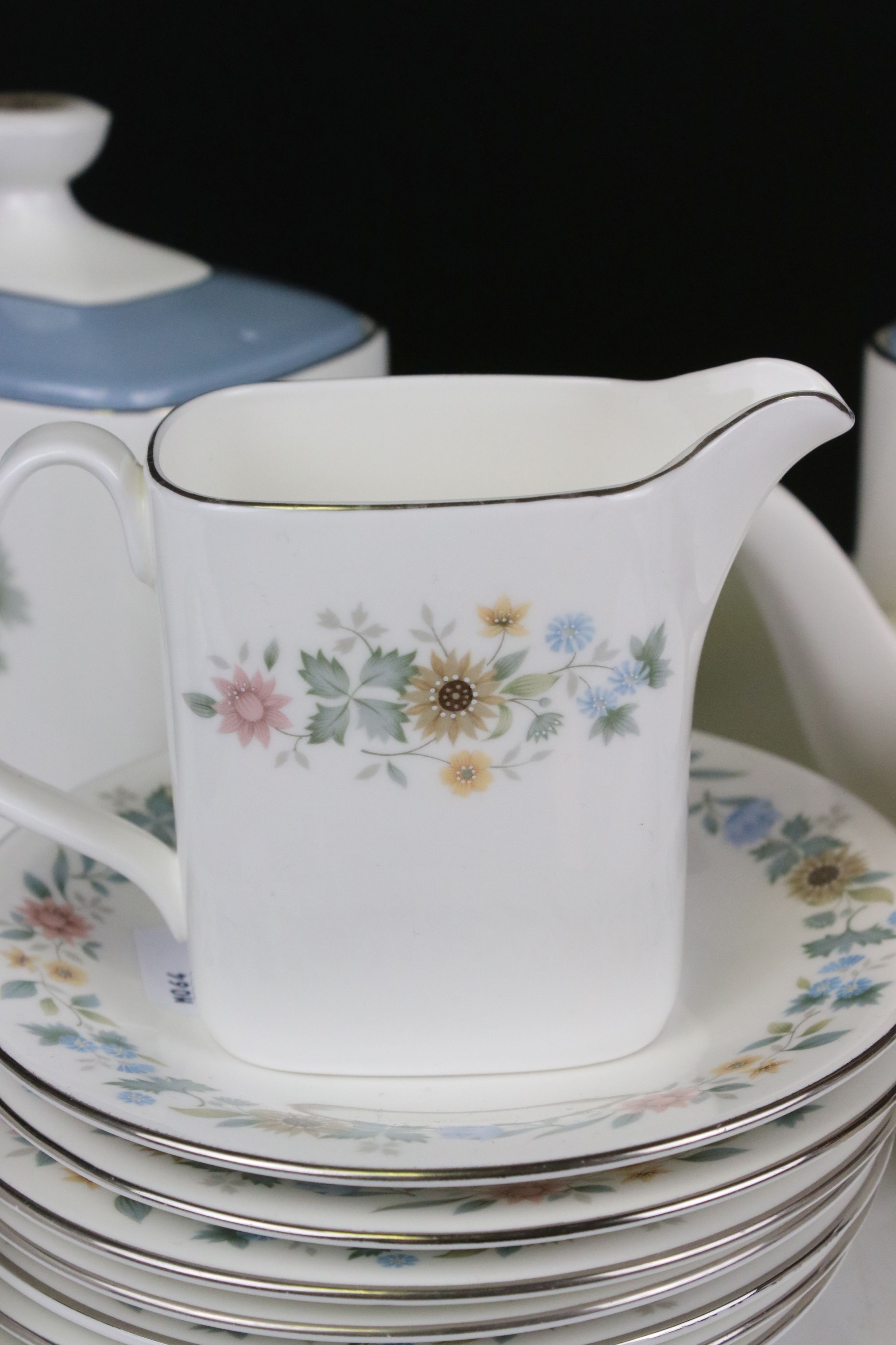 Royal Doulton ' Pastorale ' Tea Set comprising Two Teapots, Milk, Sugar, 6 Cups and 7 Saucers - Image 2 of 7