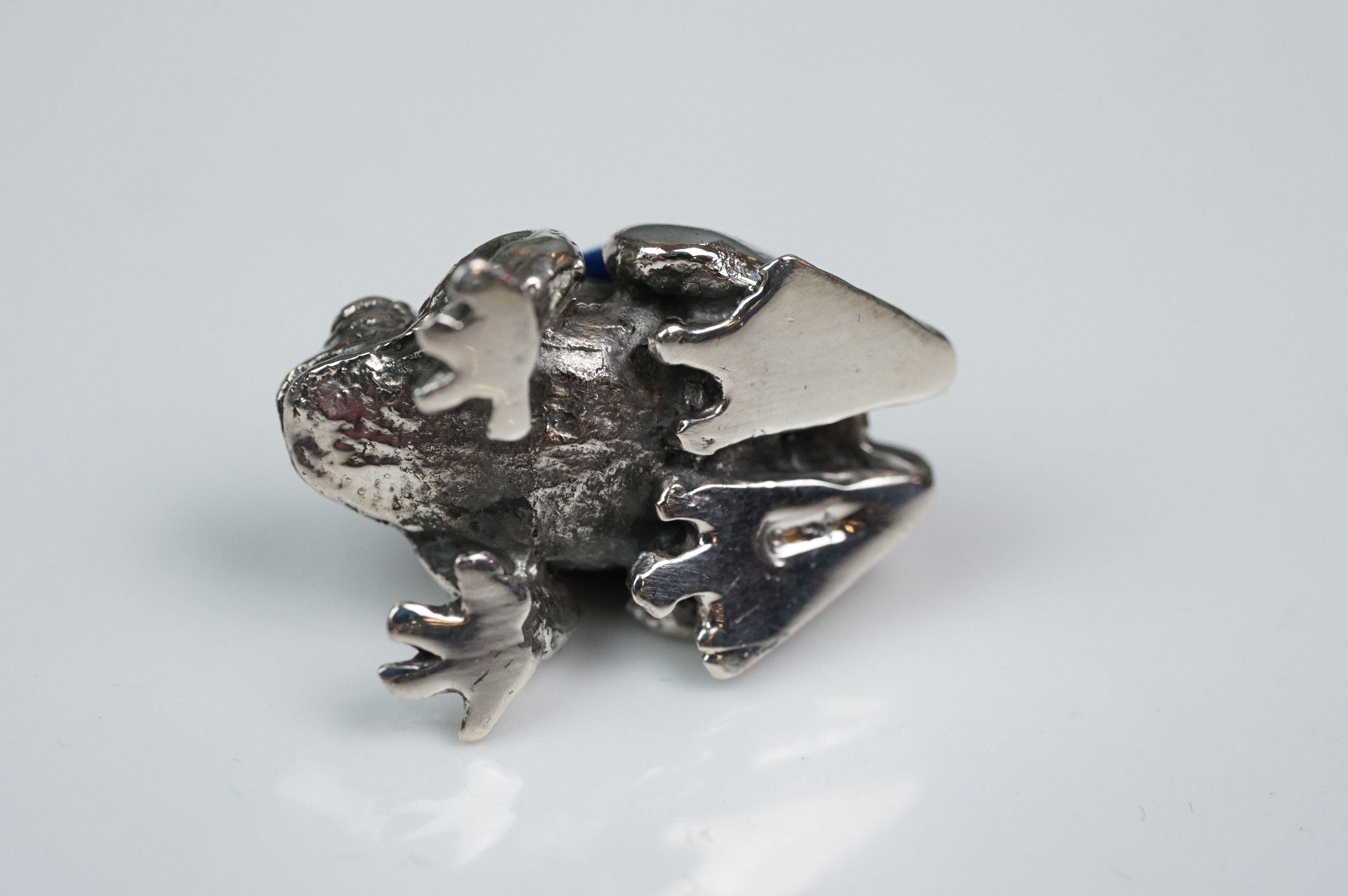 Silver frog pincushion - Image 3 of 4
