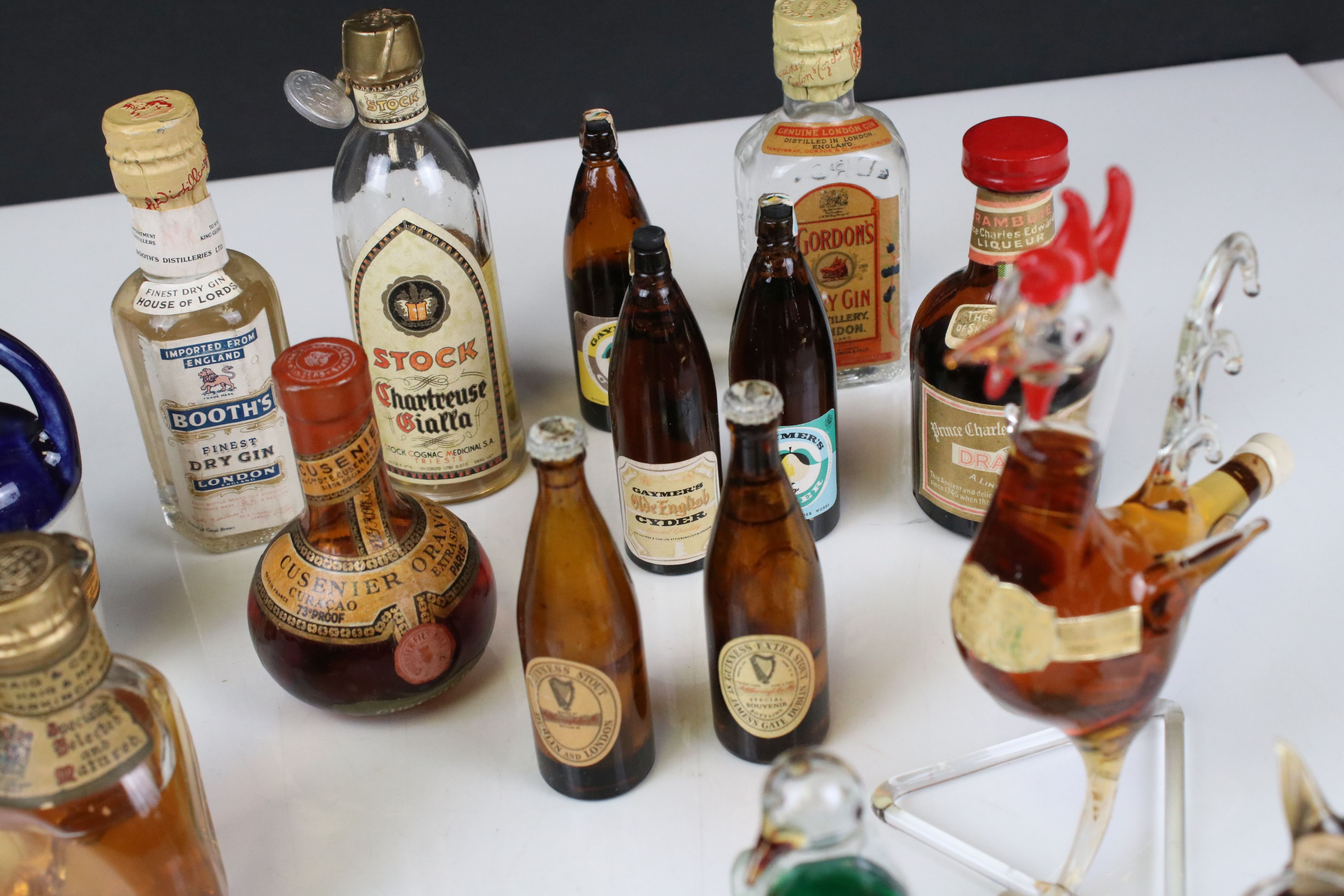 Collection of Miniature Spirits including Dimple Whisky plus Three Glass Bottles in the form of - Image 8 of 9